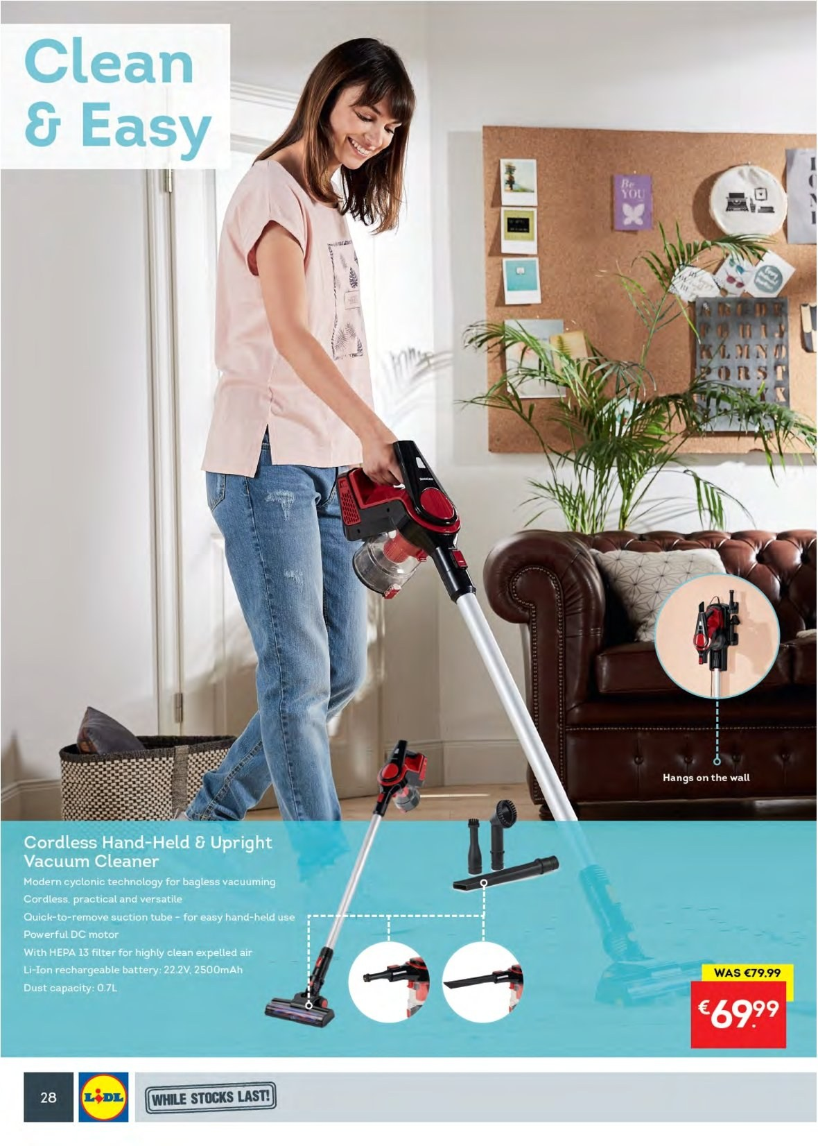 Lidl offer  - 27.8.2018 - 2.9.2018 - Sales products - cleaner, rechargeable battery, vacuum cleaner. Page 32.