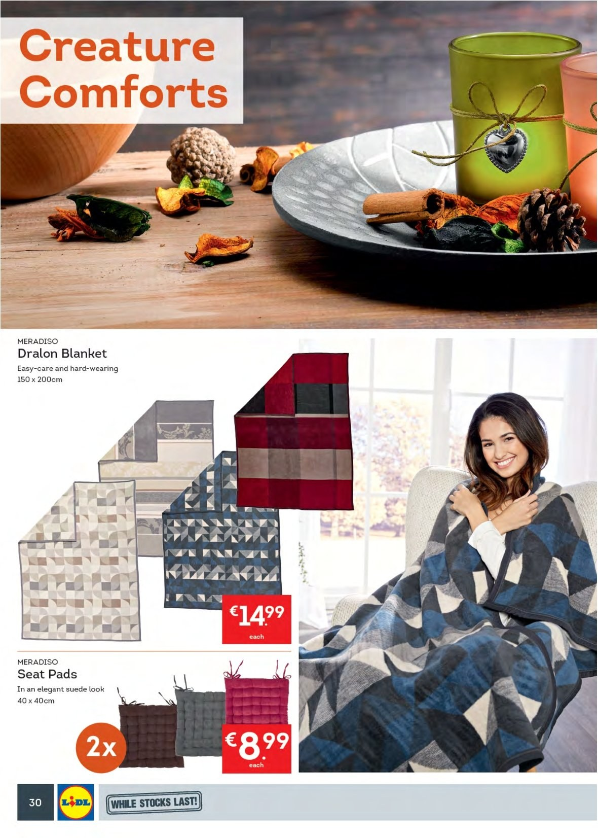 Lidl offer  - 3.9.2018 - 9.9.2018 - Sales products - blanket. Page 34.