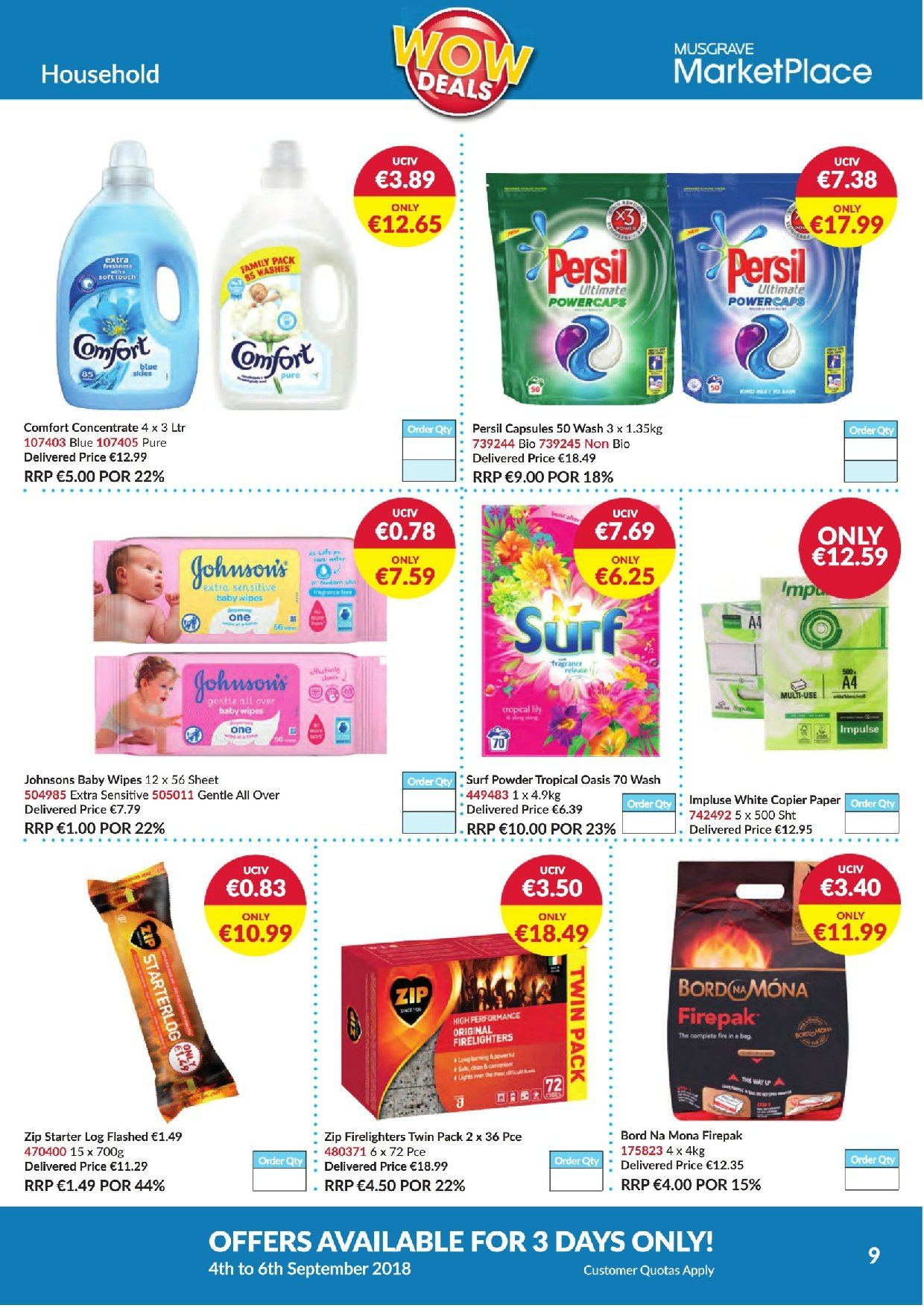 MUSGRAVE Market Place offer  - 4.9.2018 - 6.9.2018 - Sales products - paper, firelighters. Page 9.