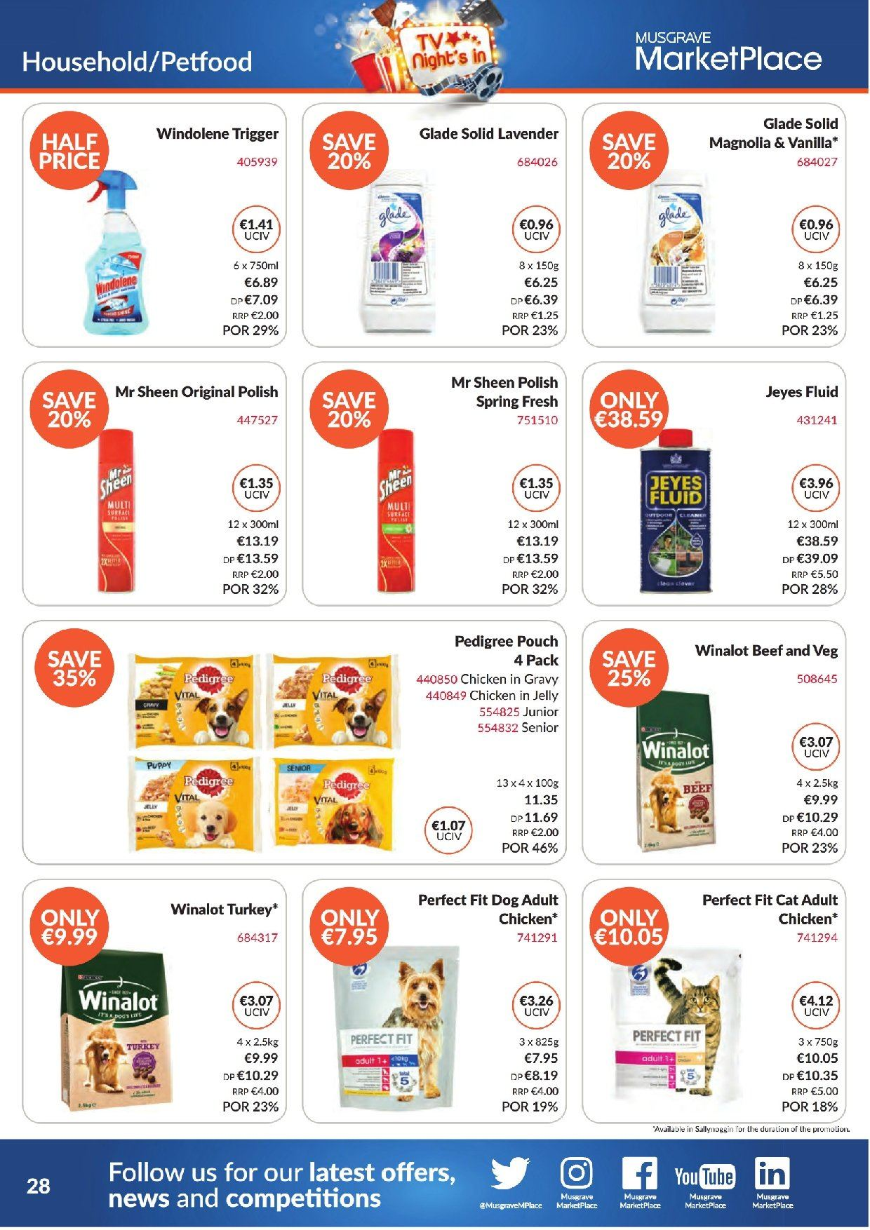 MUSGRAVE Market Place offer  - 2.9.2018 - 29.9.2018 - Sales products - jelly, turkey, chicken, beef meat, solid, TV. Page 28.