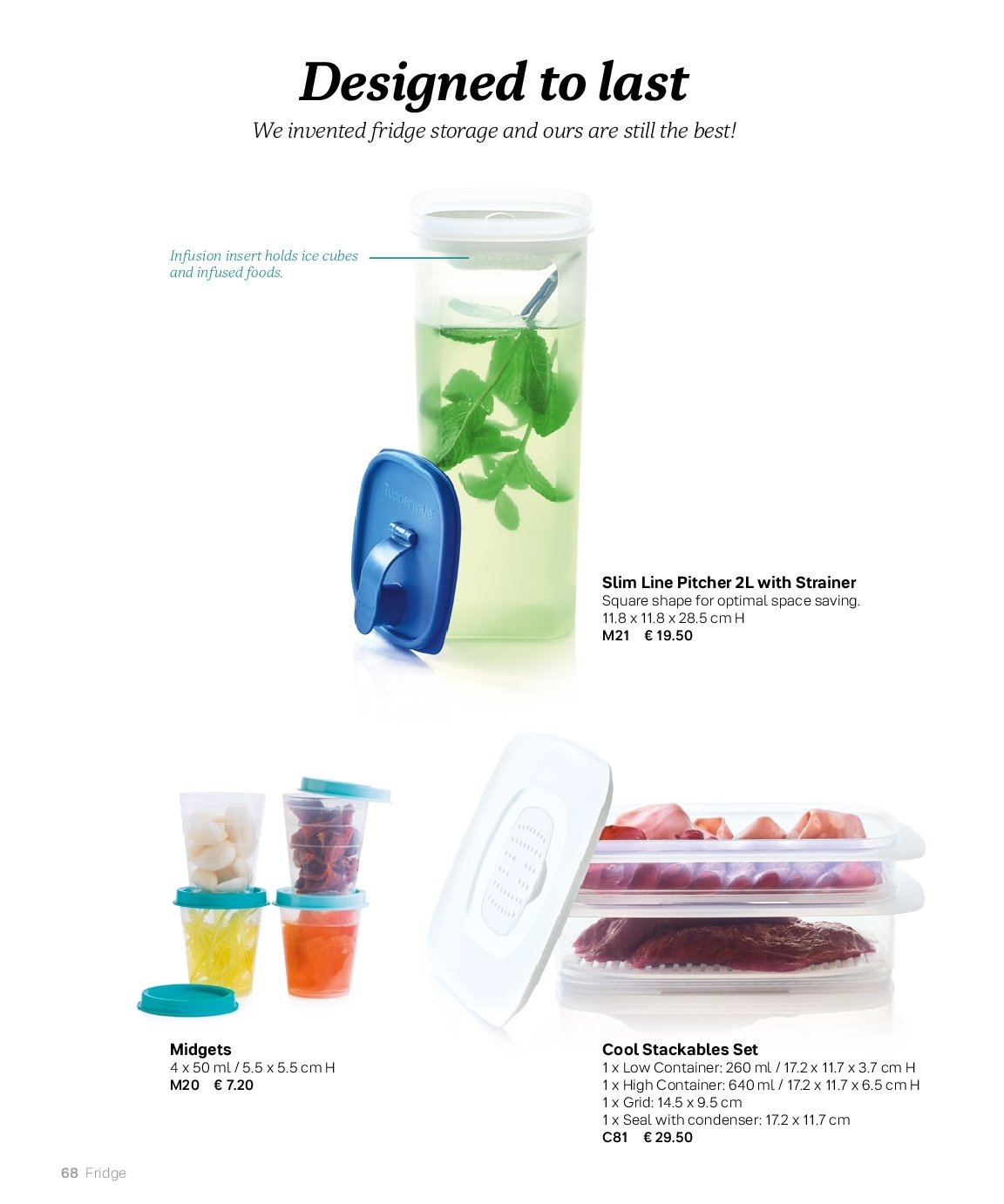 Tupperware offer  - 3.9.2018 - 28.2.2019 - Sales products - pitcher. Page 68.