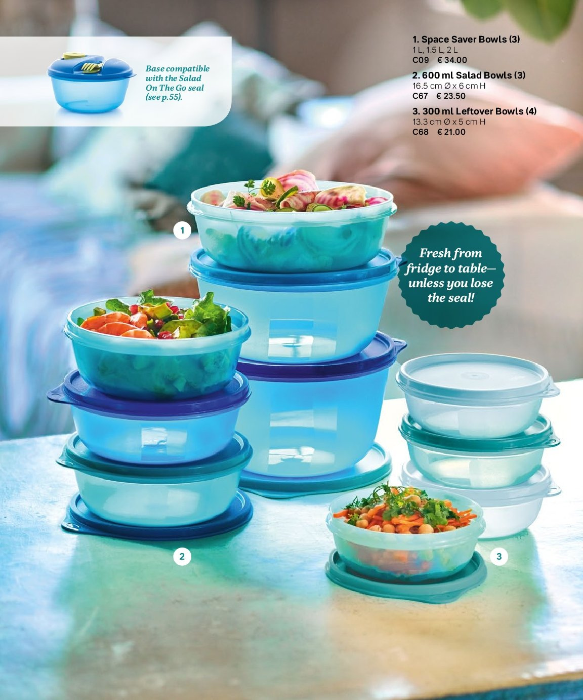 Tupperware offer  - 3.9.2018 - 28.2.2019 - Sales products - salad bowl. Page 69.