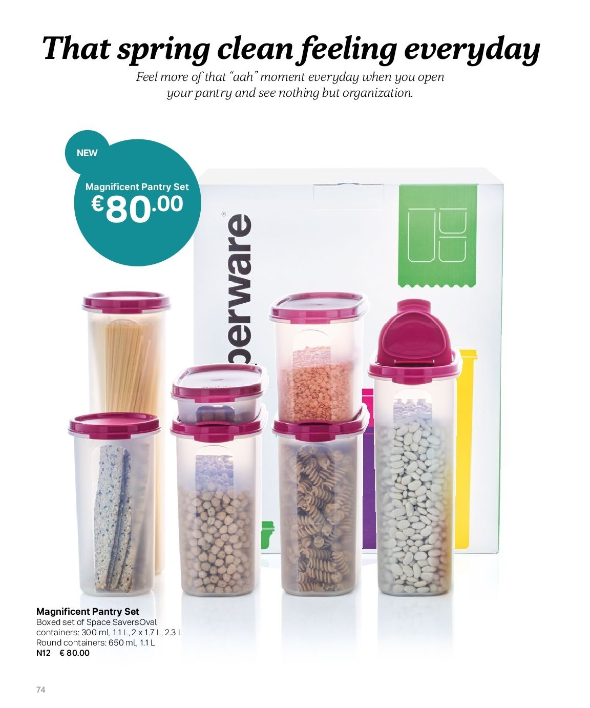 Tupperware offer  - 3.9.2018 - 28.2.2019. Page 74.
