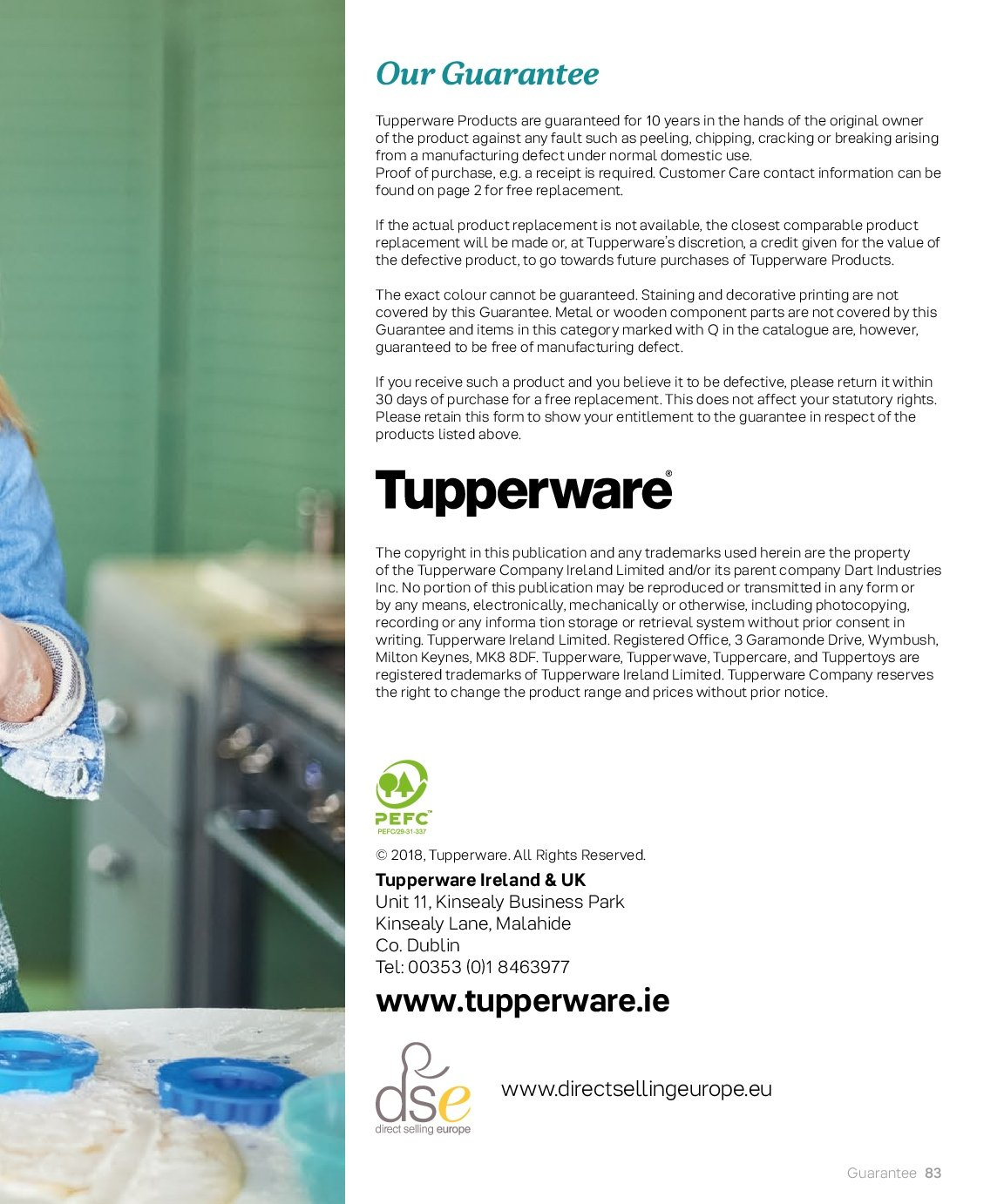 Tupperware offer  - 3.9.2018 - 28.2.2019. Page 83.