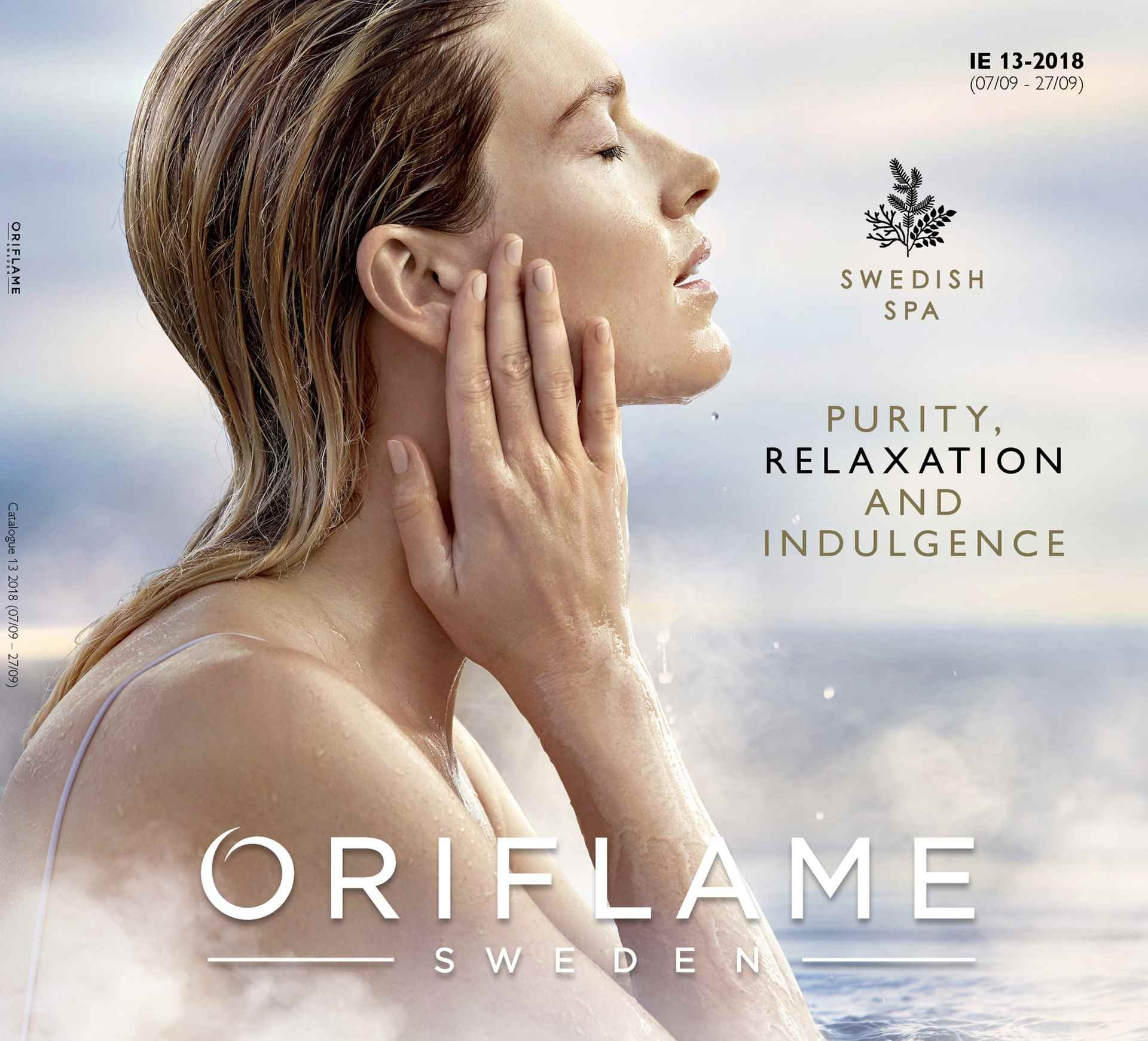Oriflame offer  - 7.9.2018 - 27.9.2018. Page 1.