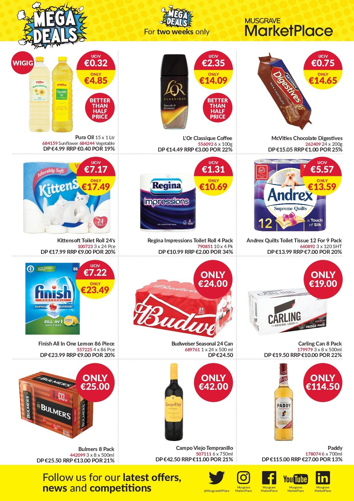 MUSGRAVE Market Place offer  - 6.1.2019 - 19.1.2019 - Sales products - Budweiser, chocolate, oil, coffee, beer, sunflower. Page 2.