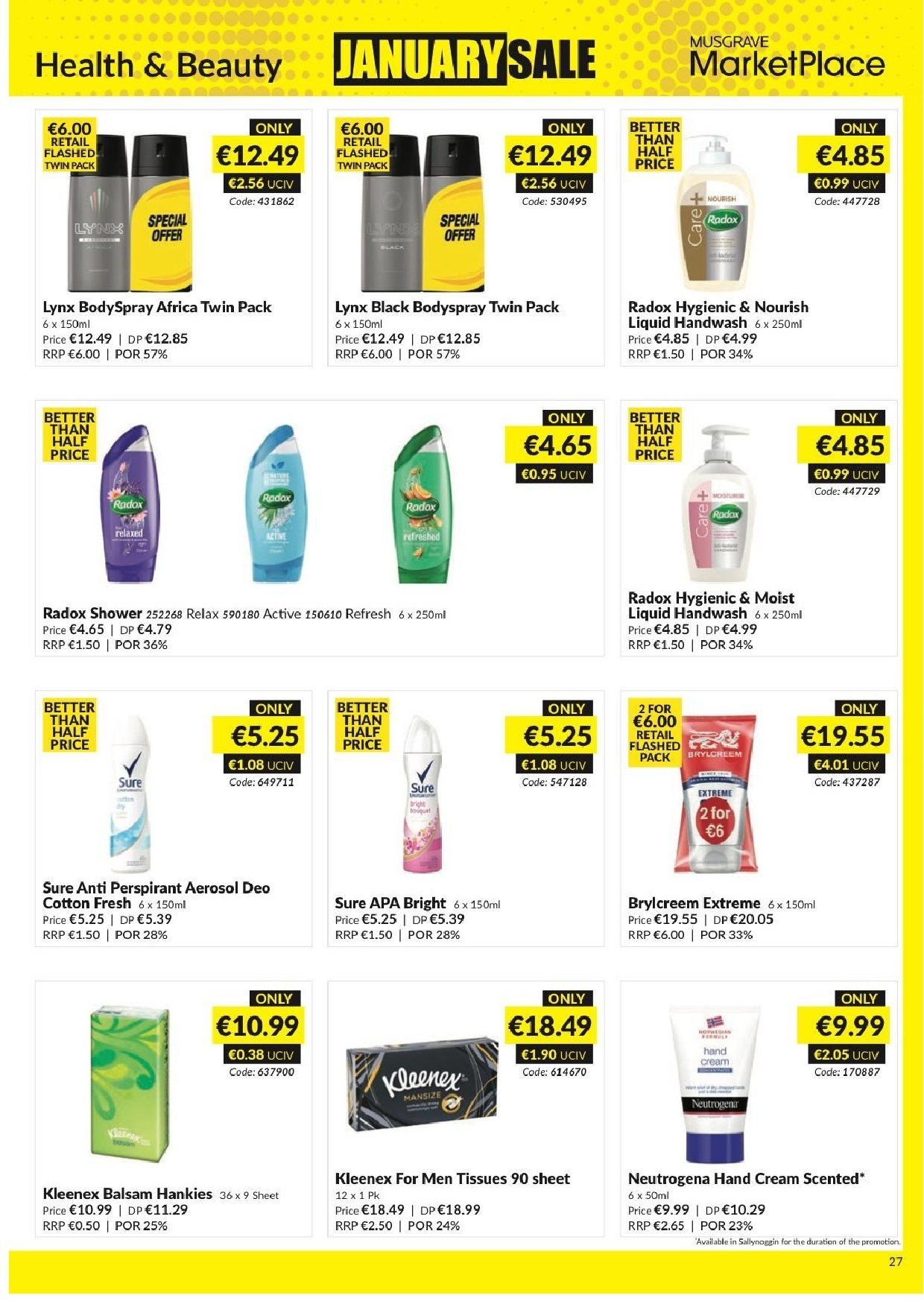 MUSGRAVE Market Place offer  - 23.12.2018 - 19.1.2019 - Sales products - tissues. Page 24.