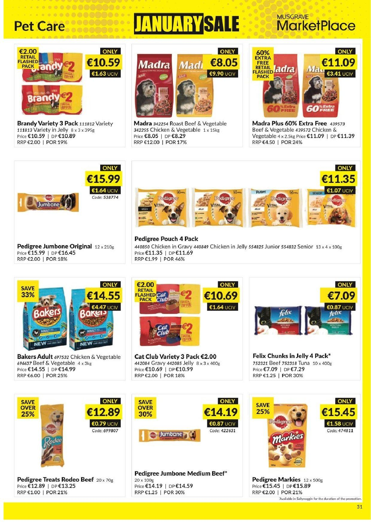 MUSGRAVE Market Place offer  - 23.12.2018 - 19.1.2019 - Sales products - tuna, jelly, brandy, chicken, beef meat. Page 32.