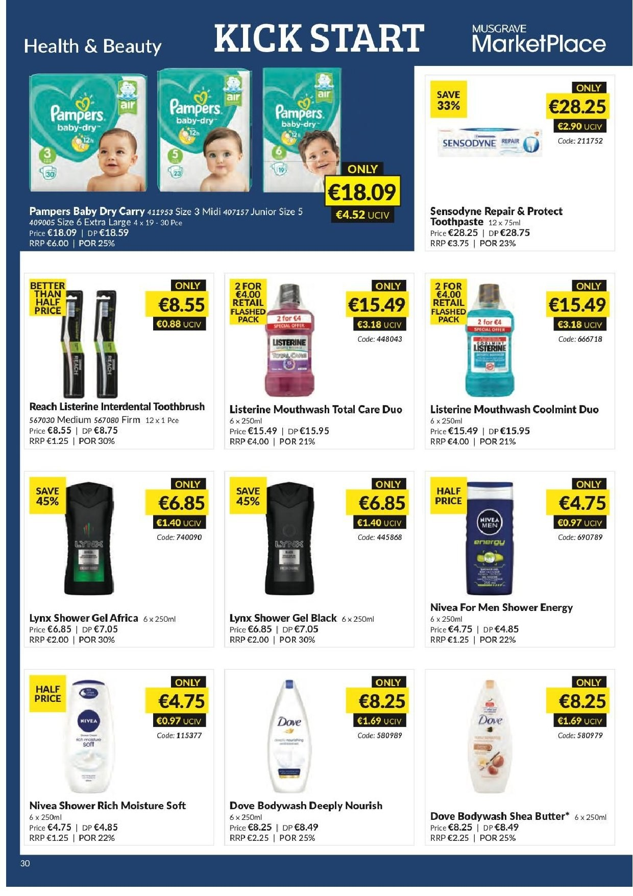 MUSGRAVE Market Place offer  - 20.1.2019 - 16.2.2019 - Sales products - moisture, repair, mouthwash. Page 31.
