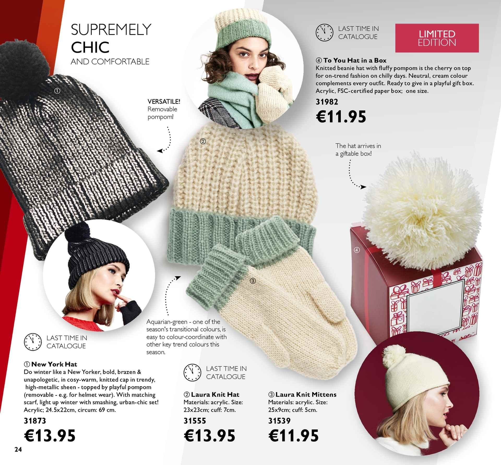 ce4b0c3f028 Oriflame offer - 18.1.2019 - 7.2.2019 - Sales products - beanie