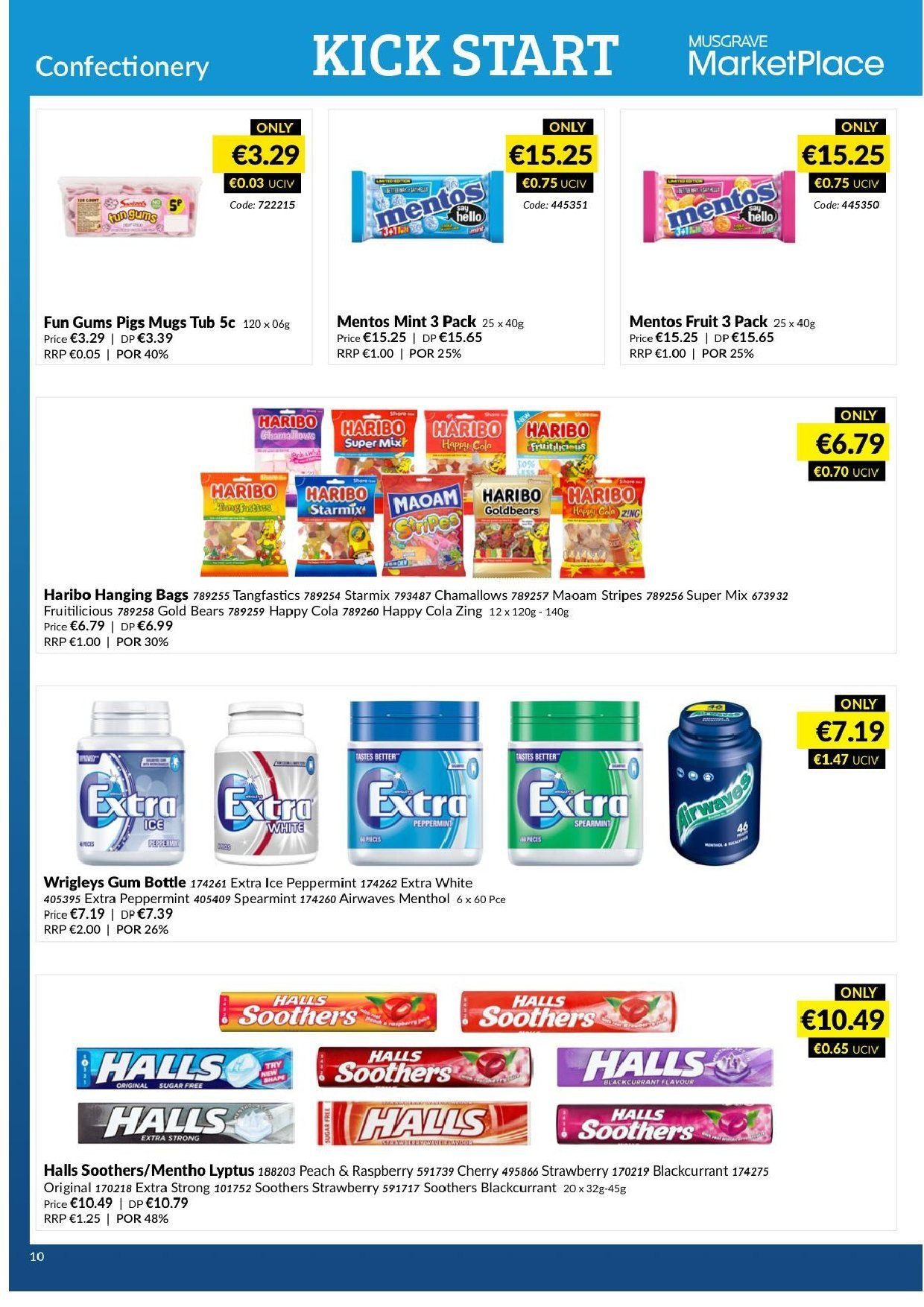 MUSGRAVE Market Place offer  - 17.2.2019 - 16.3.2019 - Sales products - strawberries, Halls, Mentos, Haribo, tub. Page 8.