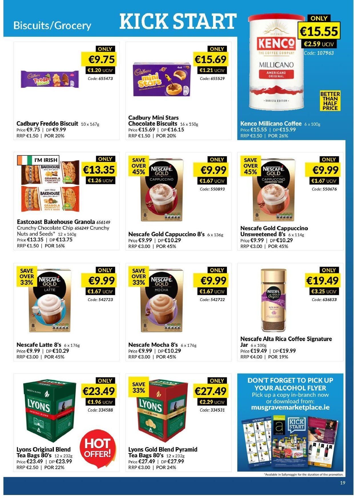 MUSGRAVE Market Place offer  - 17.2.2019 - 16.3.2019 - Sales products - chocolate, granola, nuts, cappuccino, coffee, Nescafé. Page 17.