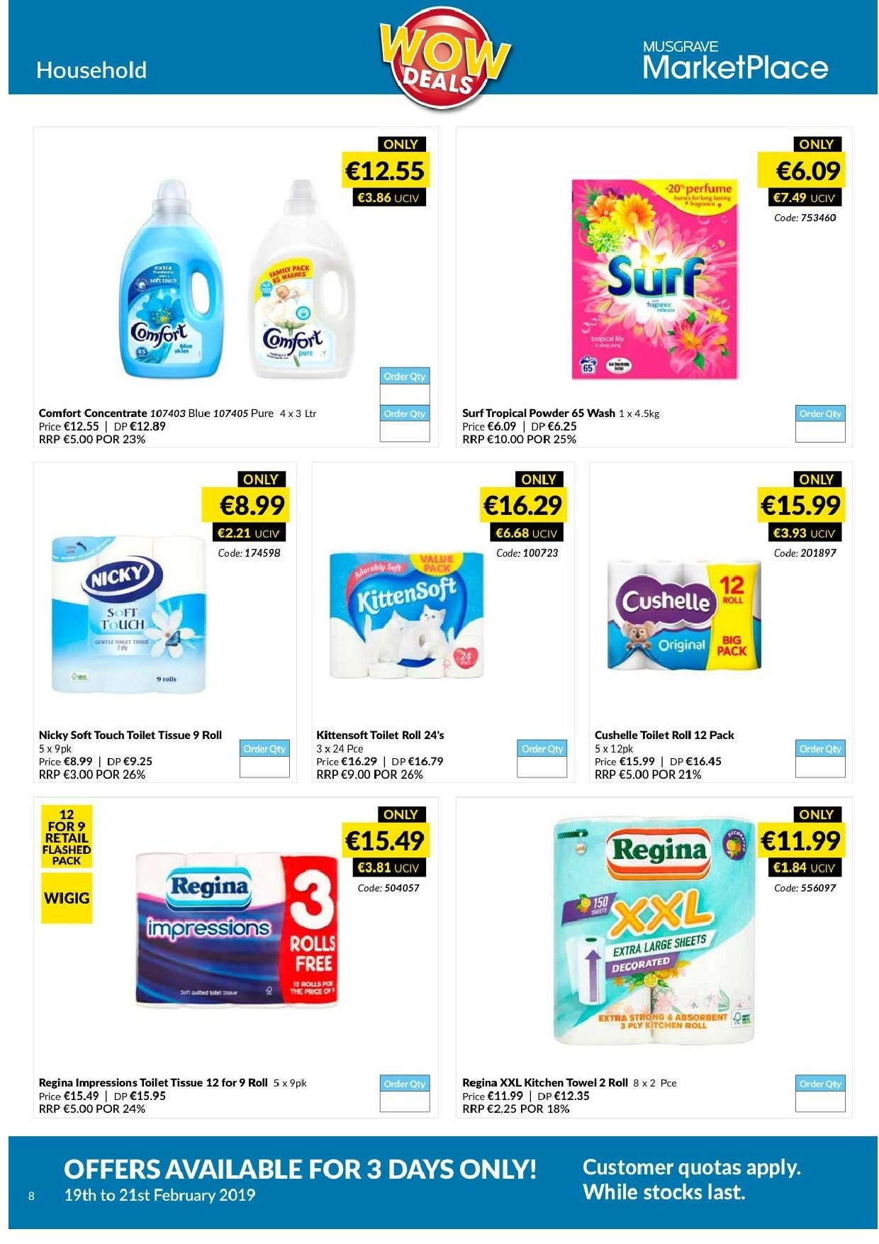 MUSGRAVE Market Place offer  - 19.2.2019 - 21.2.2019 - Sales products - rolls, kitchen towel. Page 8.