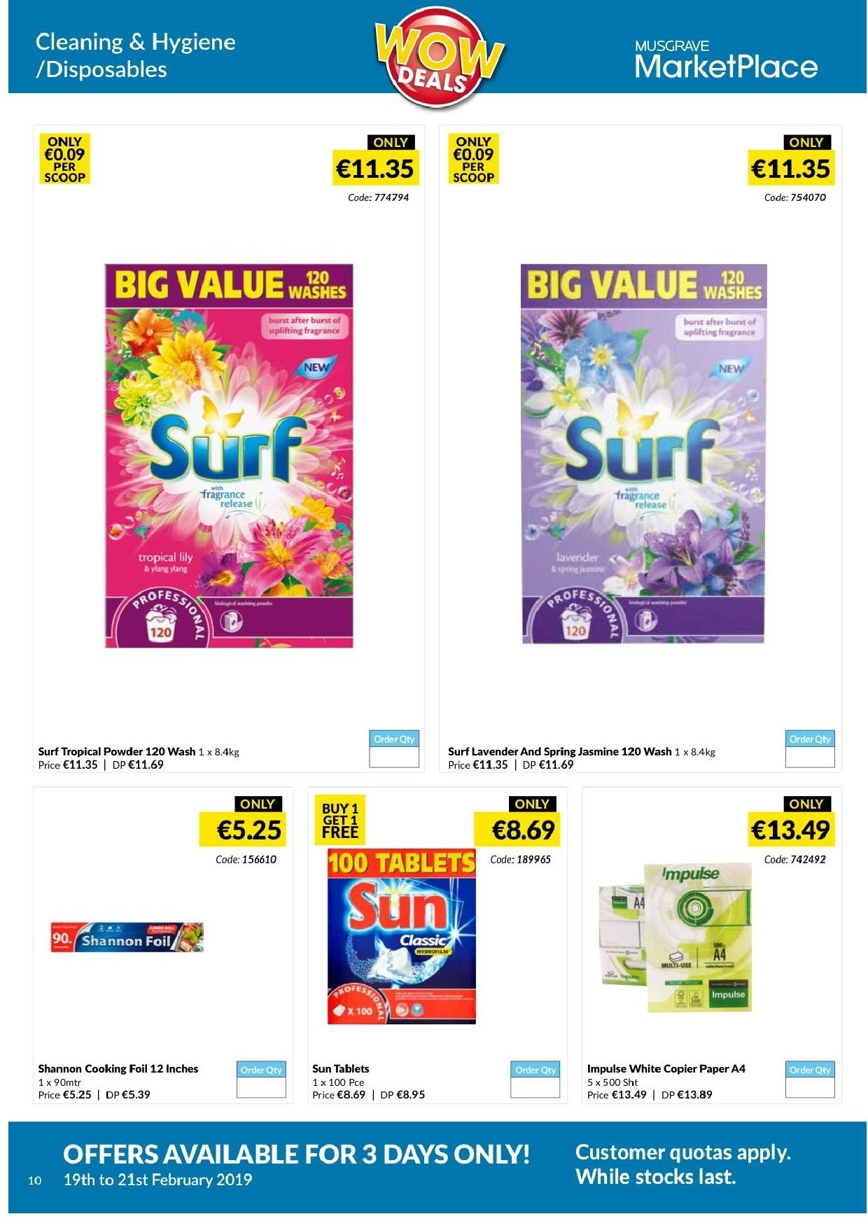 MUSGRAVE Market Place offer  - 19.2.2019 - 21.2.2019 - Sales products - paper. Page 11.