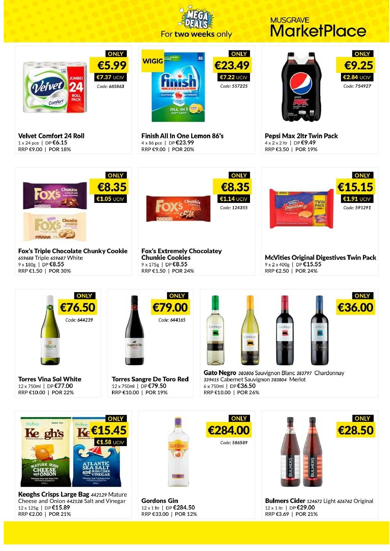 MUSGRAVE Market Place offer  - 3.3.2019 - 16.3.2019 - Sales products - onion, cheese, cookies, chocolate, salt, sea salt, vinegar, Pepsi, Pepsi Max, Cabernet Sauvignon, Chardonnay, merlot, sauvignon, gin. Page 2.