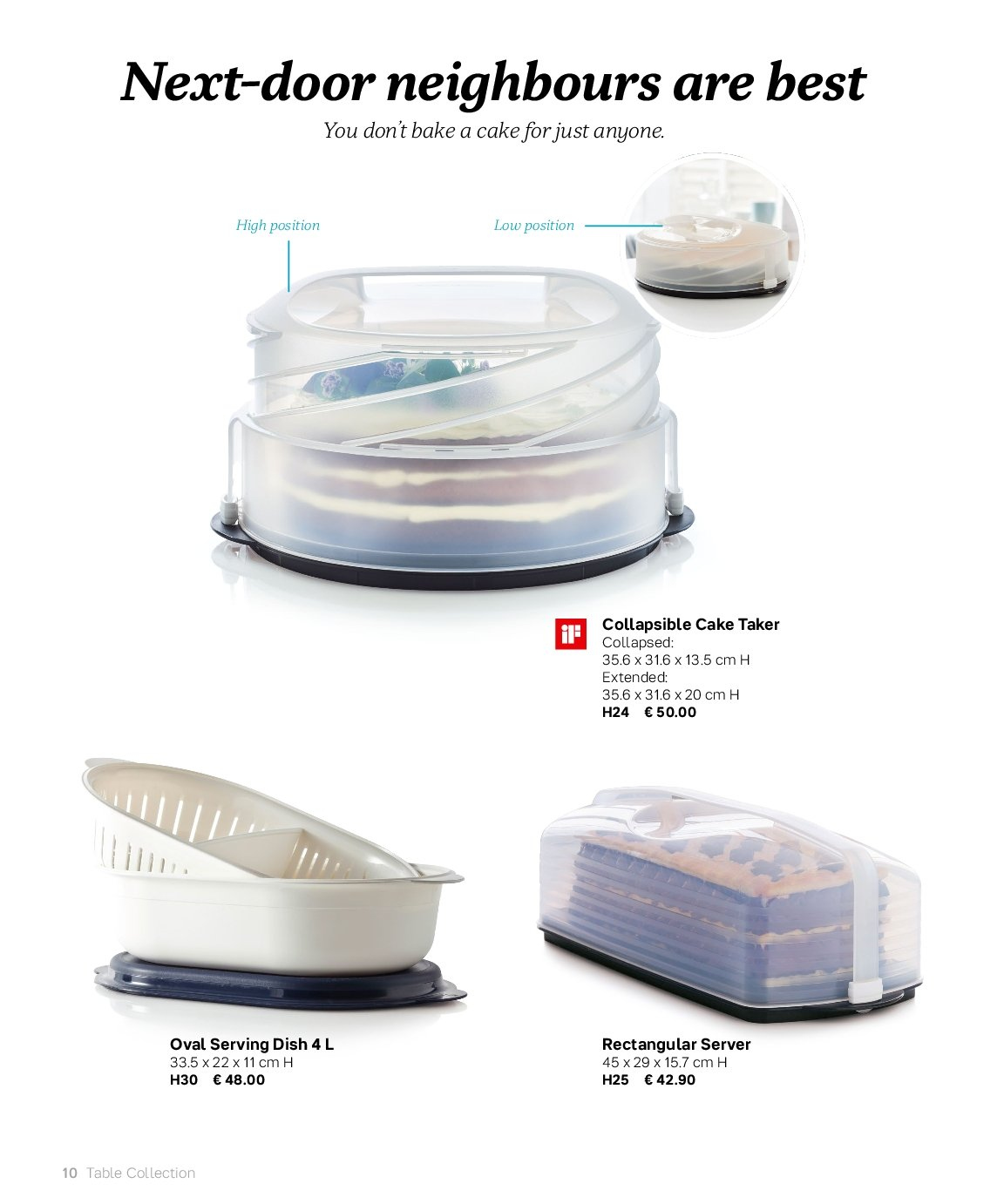 Tupperware offer . Page 10.