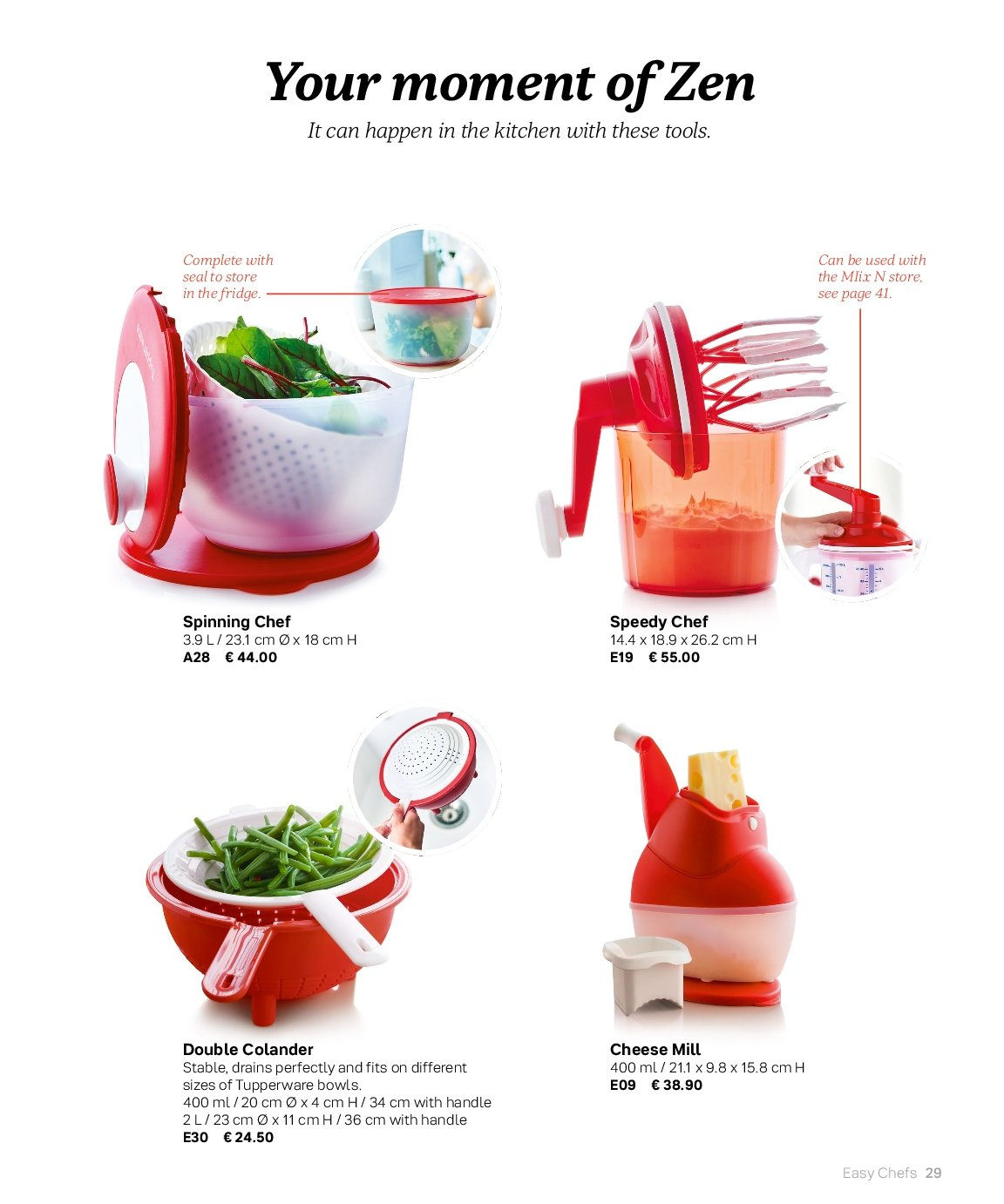 Tupperware offer . Page 29.