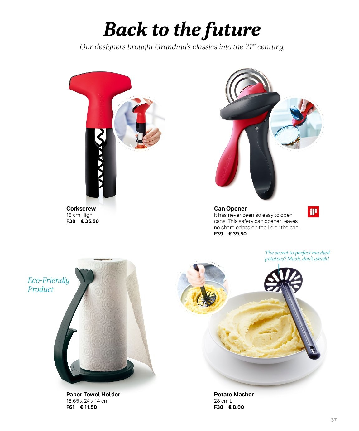 Tupperware offer  - Sales products - corkscrew. Page 37.