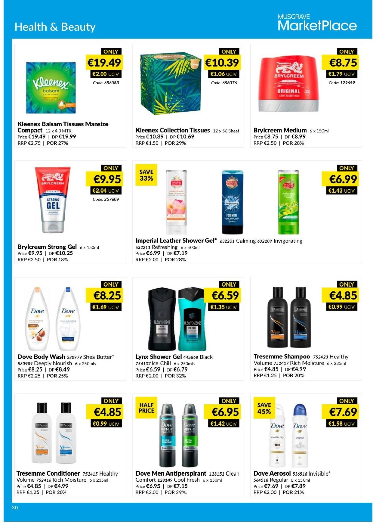 MUSGRAVE Market Place offer  - 17.3.2019 - 13.4.2019 - Sales products - moisture, tissues. Page 30.