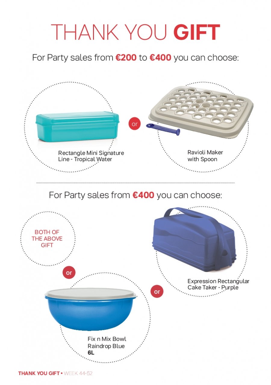 Tupperware offer  - 30.10.2017 - 31.12.2017 - Sales products - bowl, ravioli, spoon, cake. Page 2.