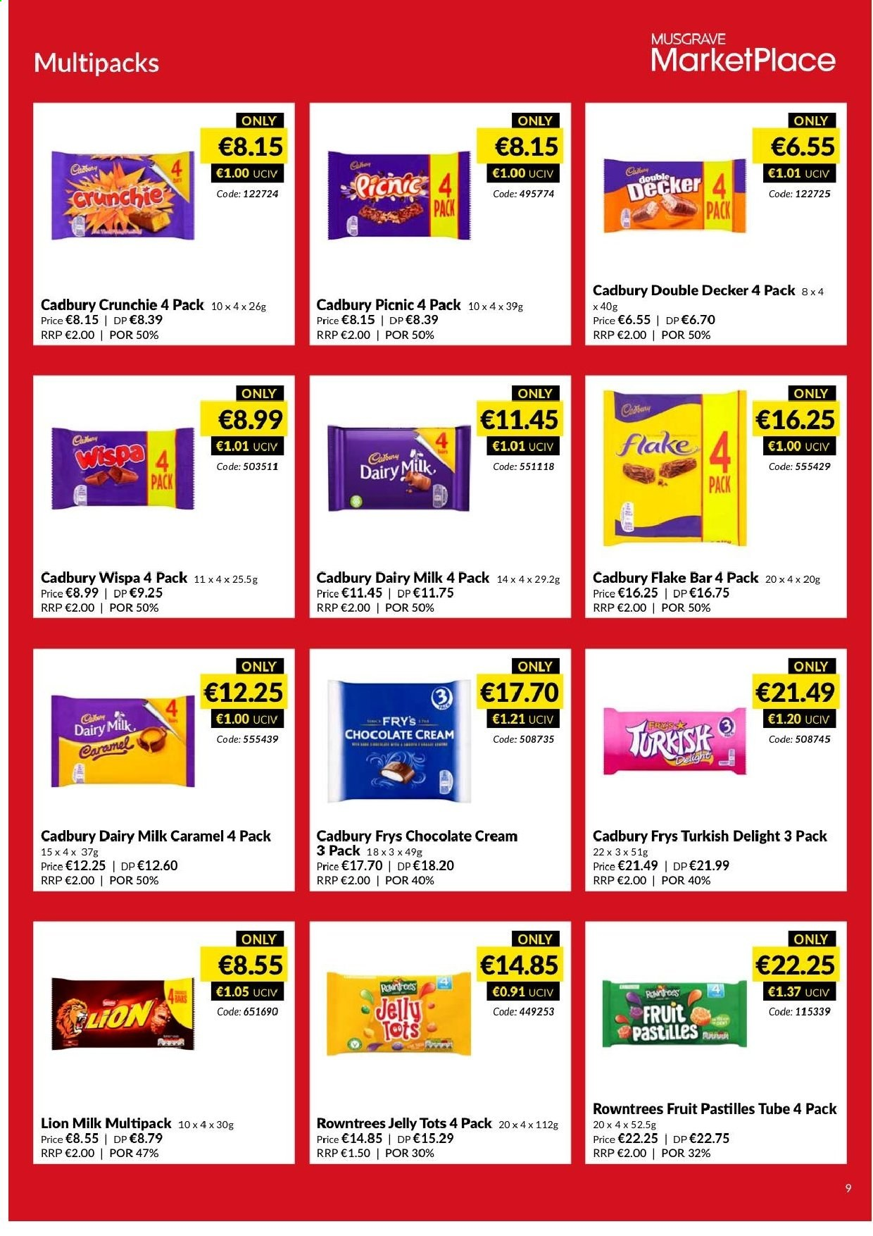 MUSGRAVE Market Place offer  - 9.6.2019 - 6.7.2019 - Sales products - jelly, milk, chocolate, Cadbury Dairy Milk, caramel. Page 7.