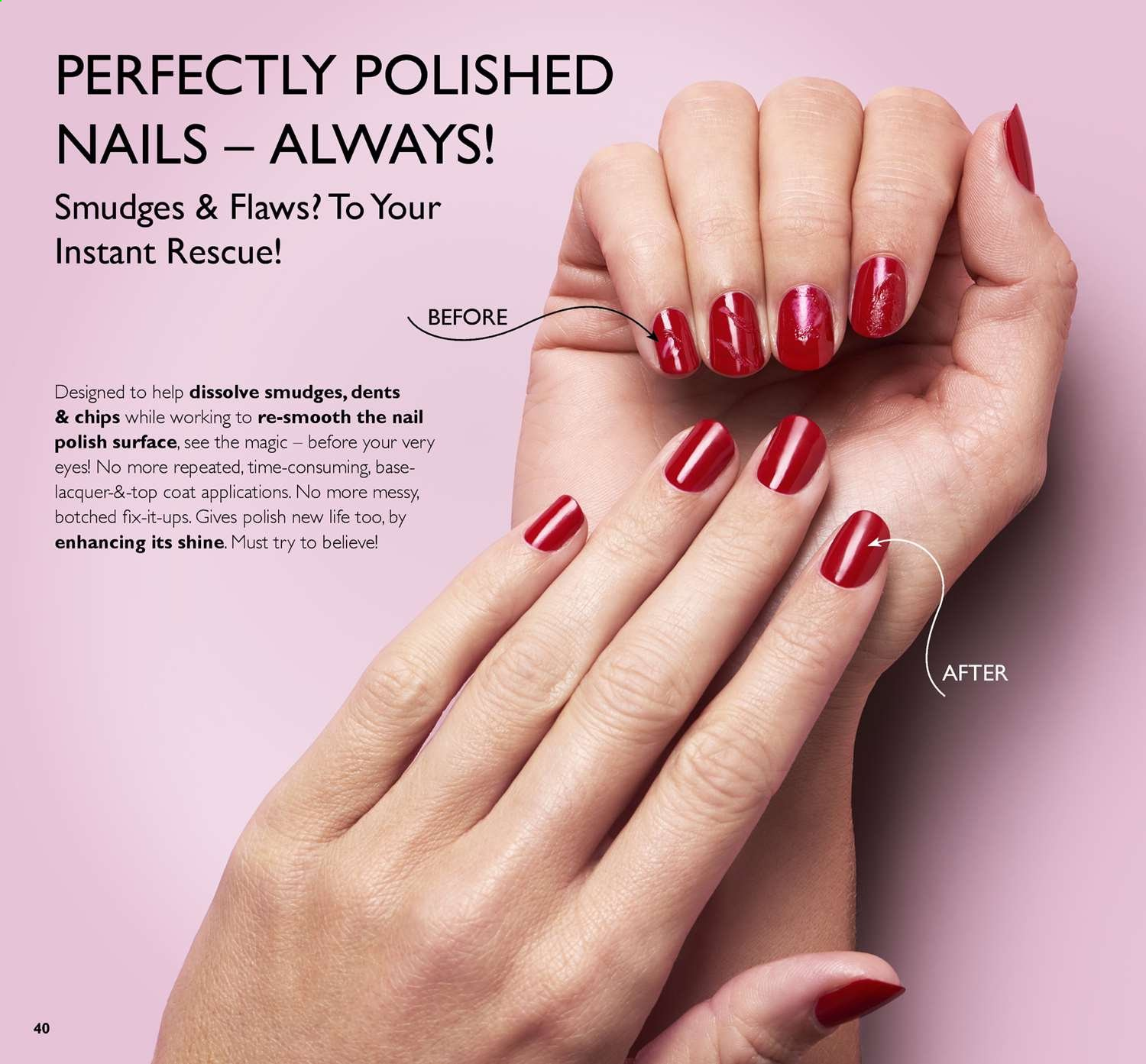 Oriflame offer  - 14.6.2019 - 4.7.2019 - Sales products - coat, surface, polish, chips. Page 40.