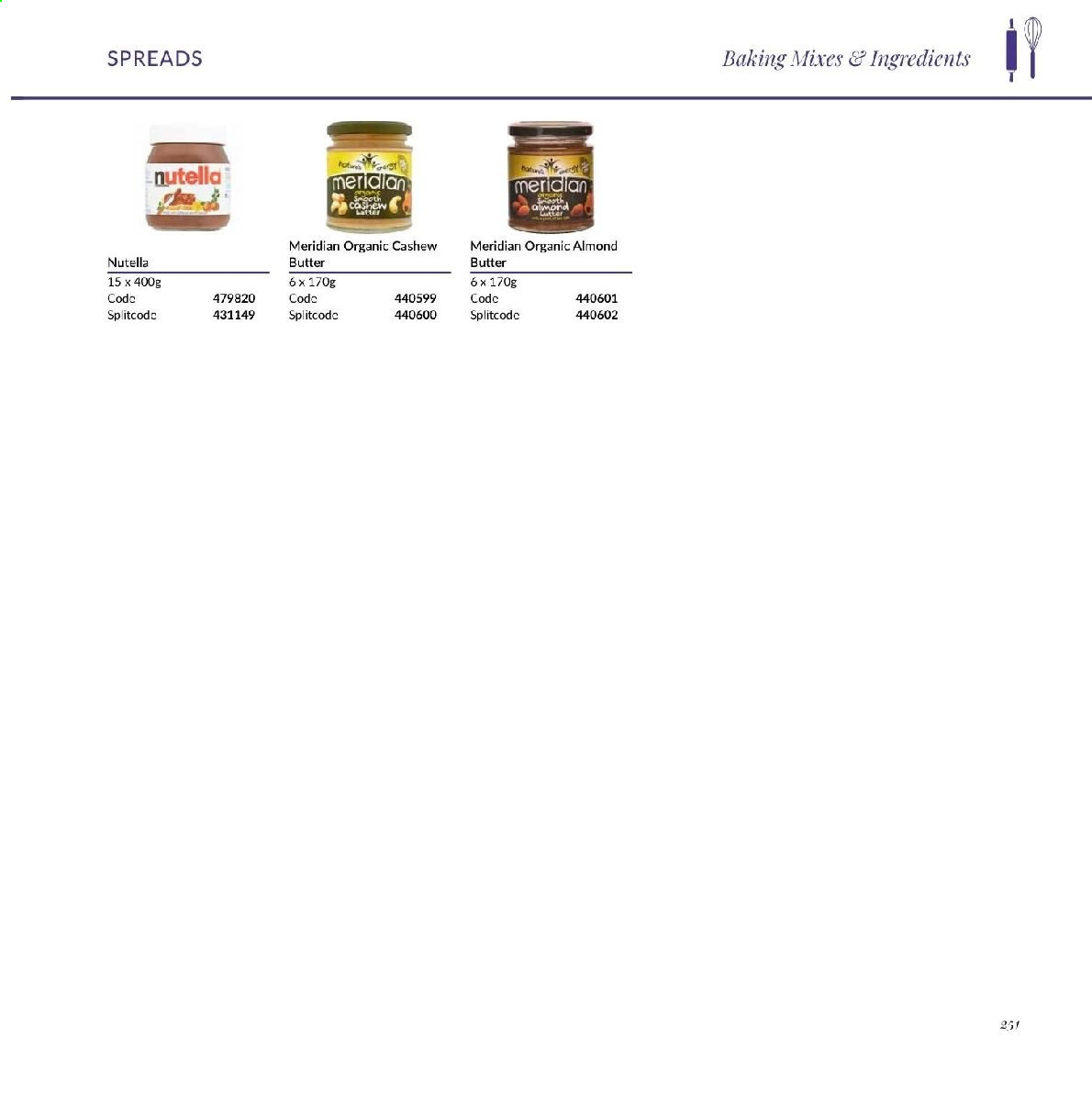 MUSGRAVE Market Place offer  - Sales products - almond butter, Nutella. Page 111.
