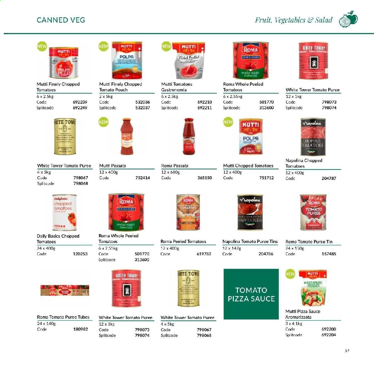 MUSGRAVE Market Place offer  - Sales products - tomatoes, salad, pizza, sauce, tomato puree, chopped tomatoes, tomato sauce. Page 211.