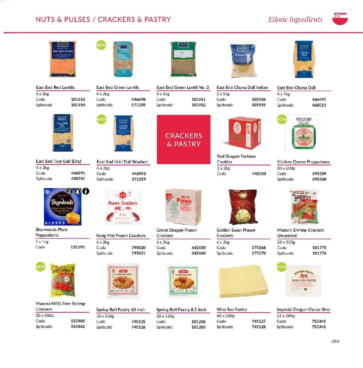 MUSGRAVE Market Place offer  - Sales products - prawn, shrimps, cookies, crackers, lentils, toor dal, red lentils, nuts. Page 259.
