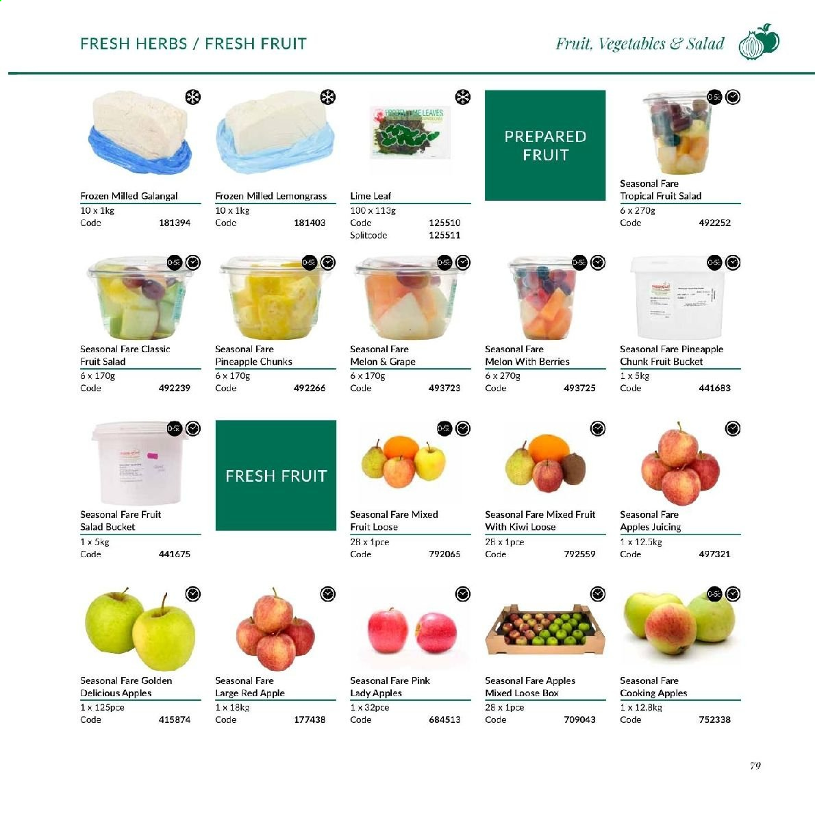 MUSGRAVE Market Place offer  - Sales products - grapes, kiwi, pineapple, melons, apples, salad, herbs, bucket. Page 294.