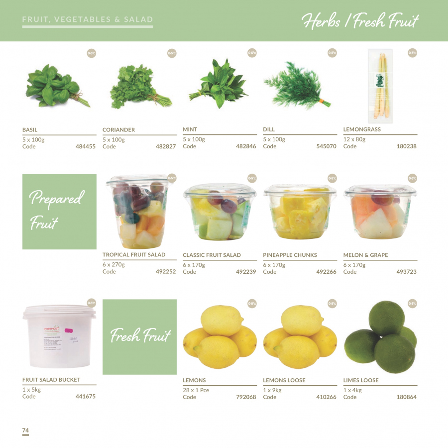 MUSGRAVE Market Place offer  - 1.1.2018 - 31.12.2018 - Sales products - grapes, limes, pineapple, melons, lemons, salad, basil, dill, herbs, bucket. Page 75.