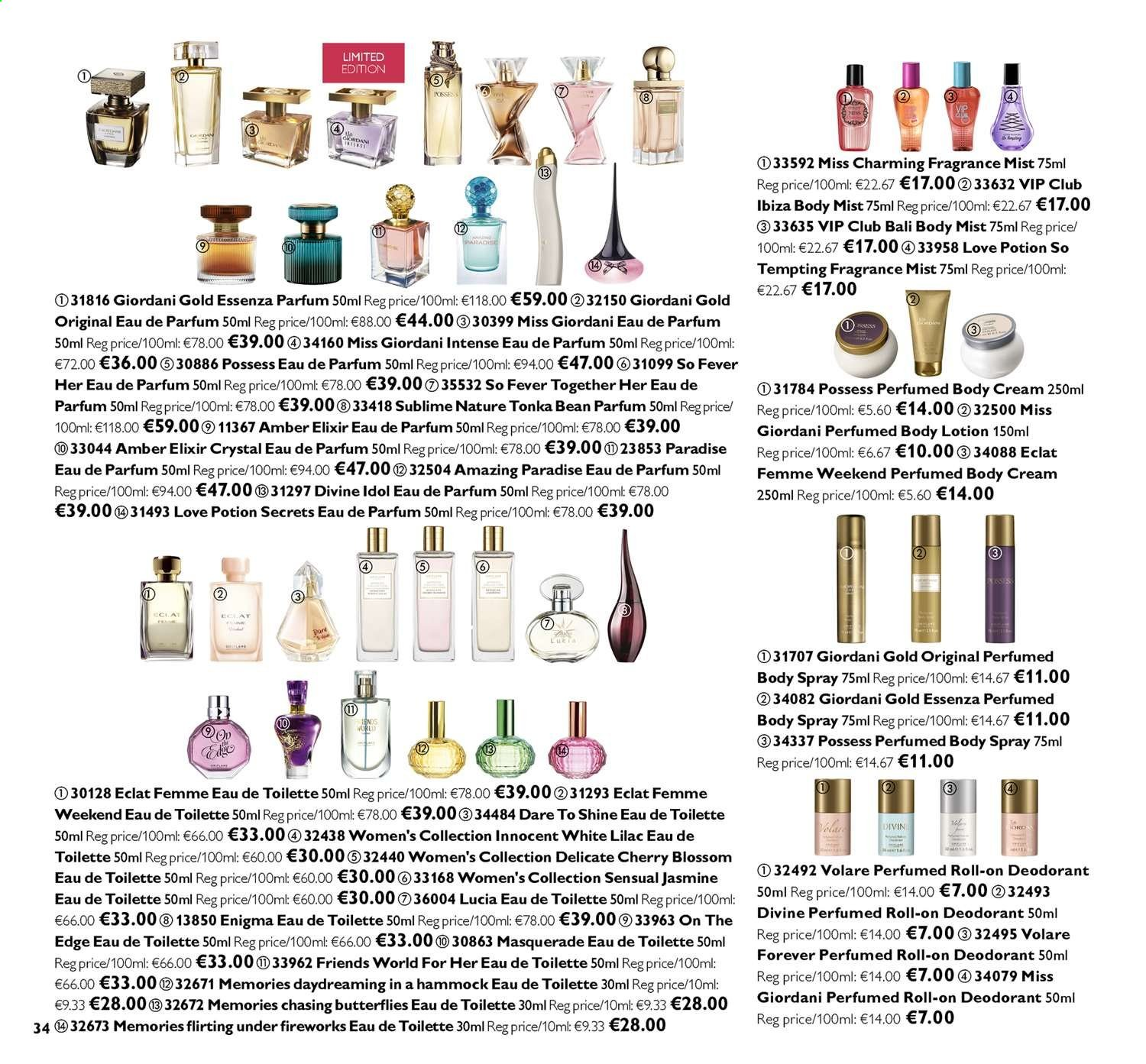 Oriflame offer  - 26.7.2019 - 15.8.2019. Page 34.