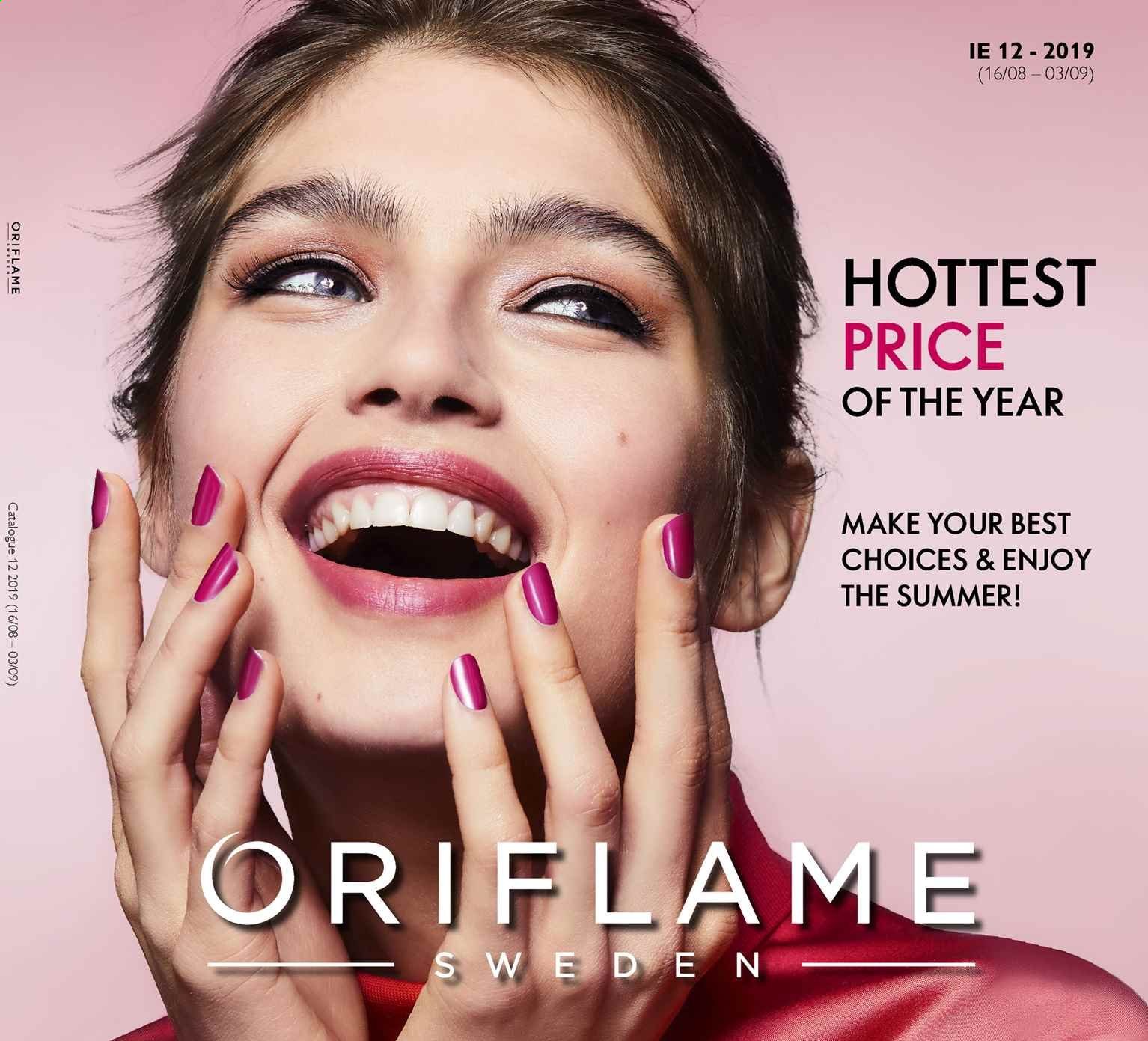 Oriflame offer  - 16.8.2019 - 3.9.2019. Page 1.