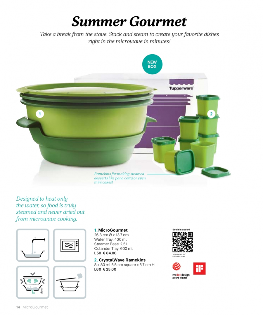 Tupperware offer  - 27.2.2018 - 31.8.2018 - Sales products - box, colander, microwave, tray. Page 14.