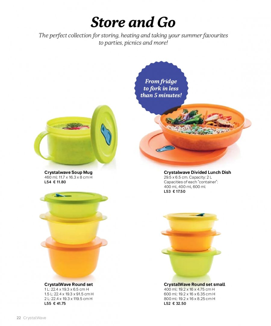 Tupperware offer  - 27.2.2018 - 31.8.2018 - Sales products - fork, mug. Page 22.