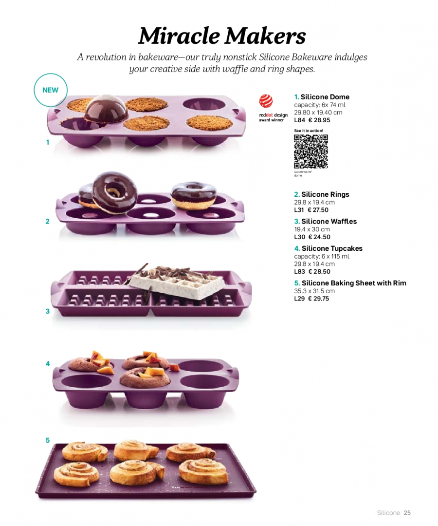 Tupperware offer  - 27.2.2018 - 31.8.2018 - Sales products - bakeware. Page 25.