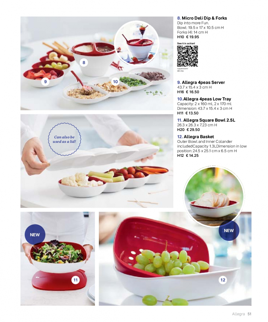 Tupperware offer  - 27.2.2018 - 31.8.2018 - Sales products - colander, lid, tray, bowl. Page 51.