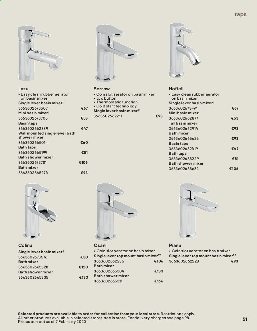 B&Q offer  - Sales products - bath, Bathroom, mixer. Page 51.