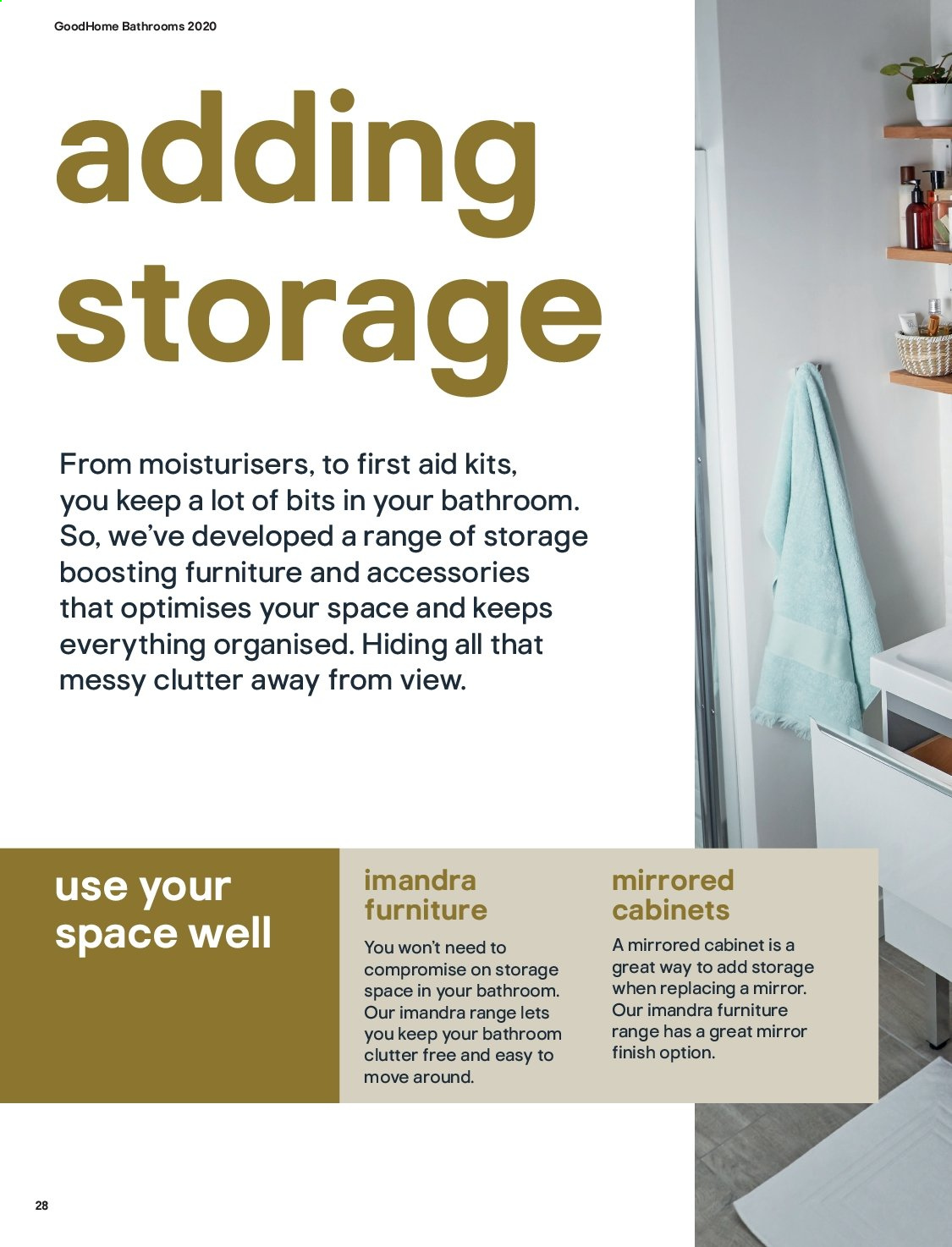 B&Q offer  - Sales products - Bathroom, cabinet, Furniture, mirror. Page 28.