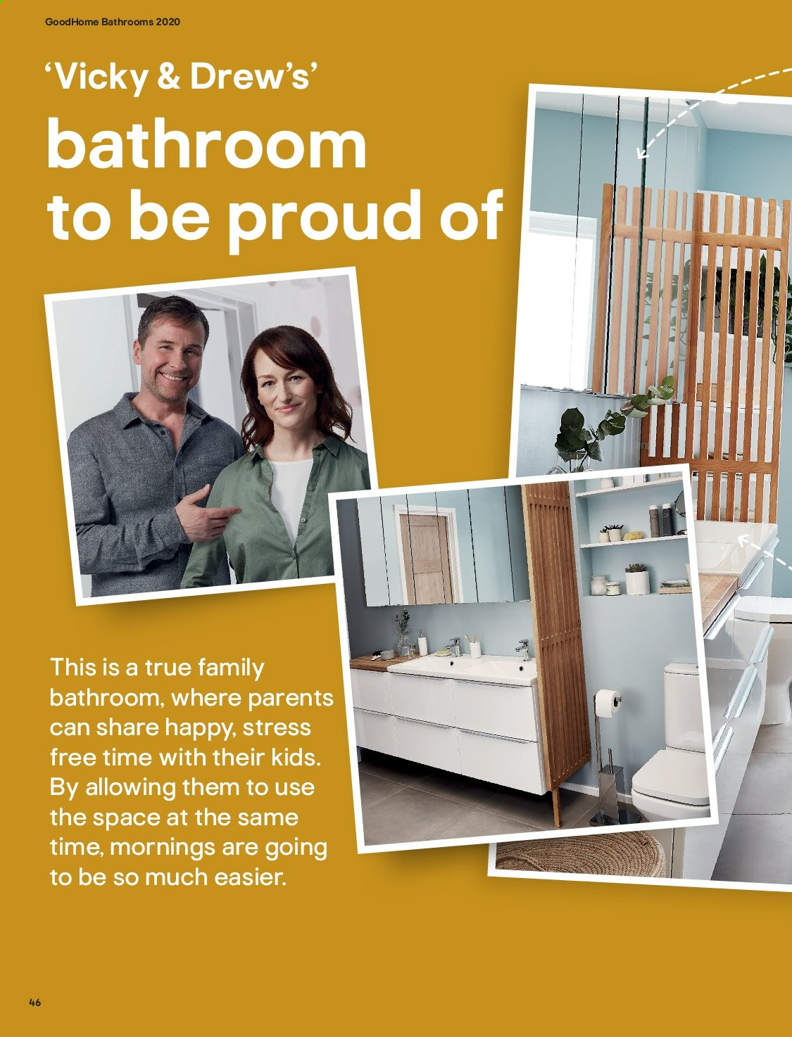 B&Q offer  - Sales products - Bathroom. Page 46.