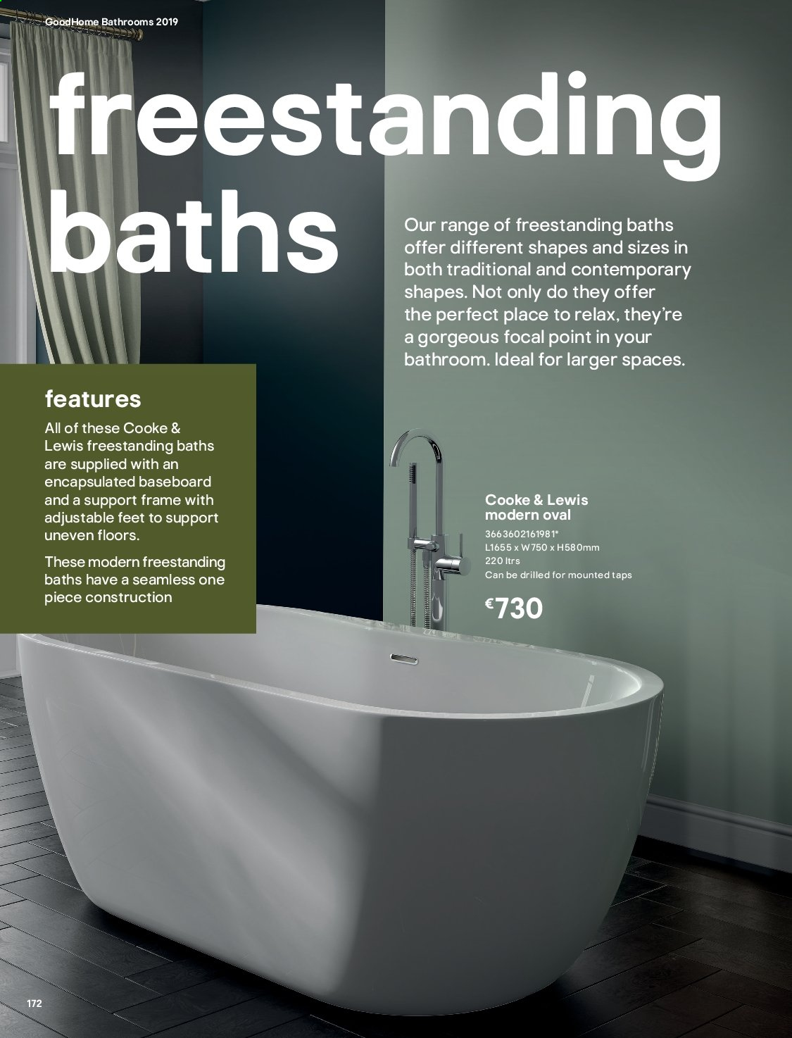 B&Q offer  - Sales products - Bathroom. Page 172.