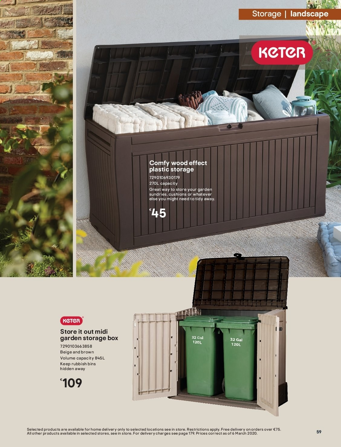 B&Q offer  - Sales products - storage box. Page 59.