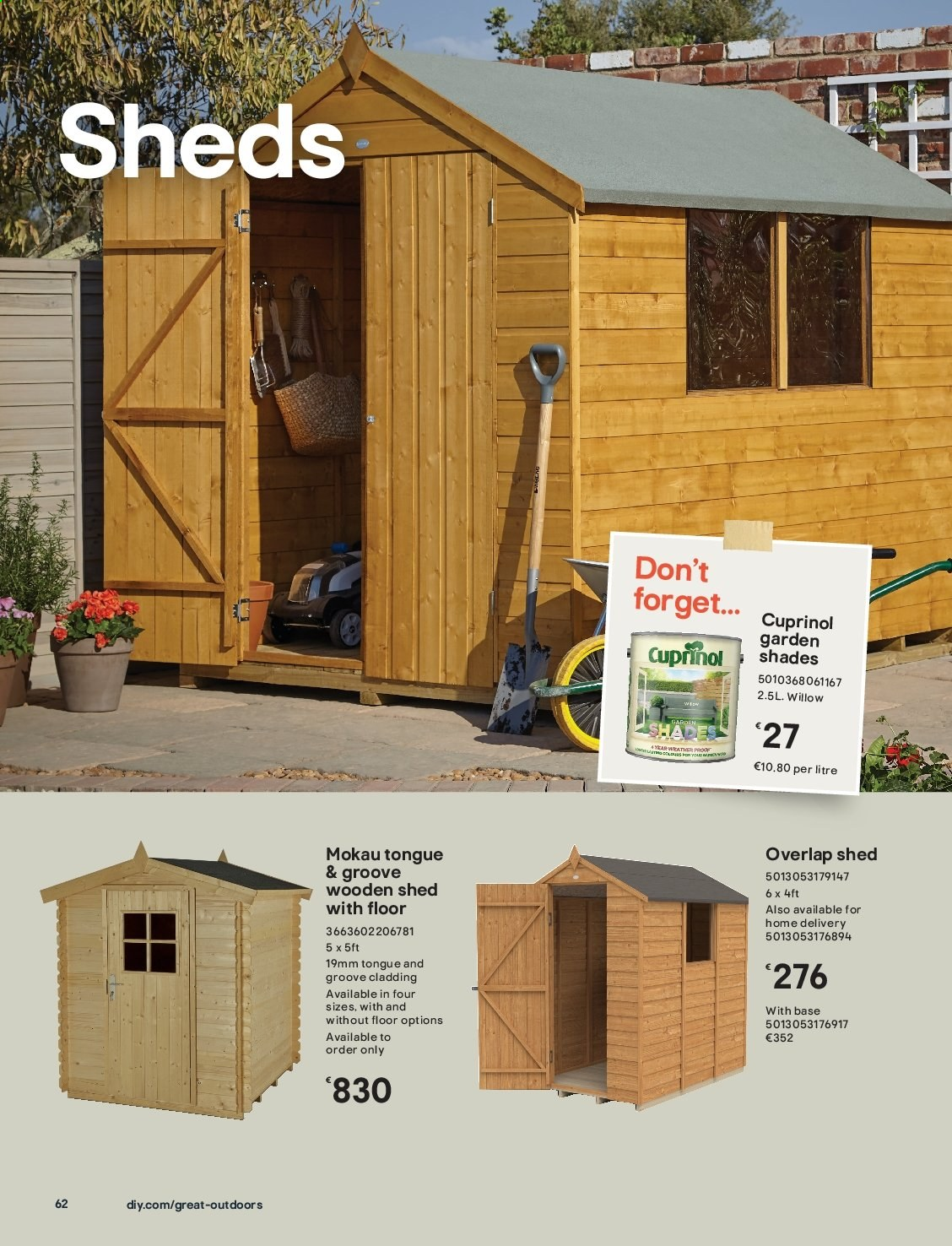 B&Q offer  - Sales products - shades. Page 62.