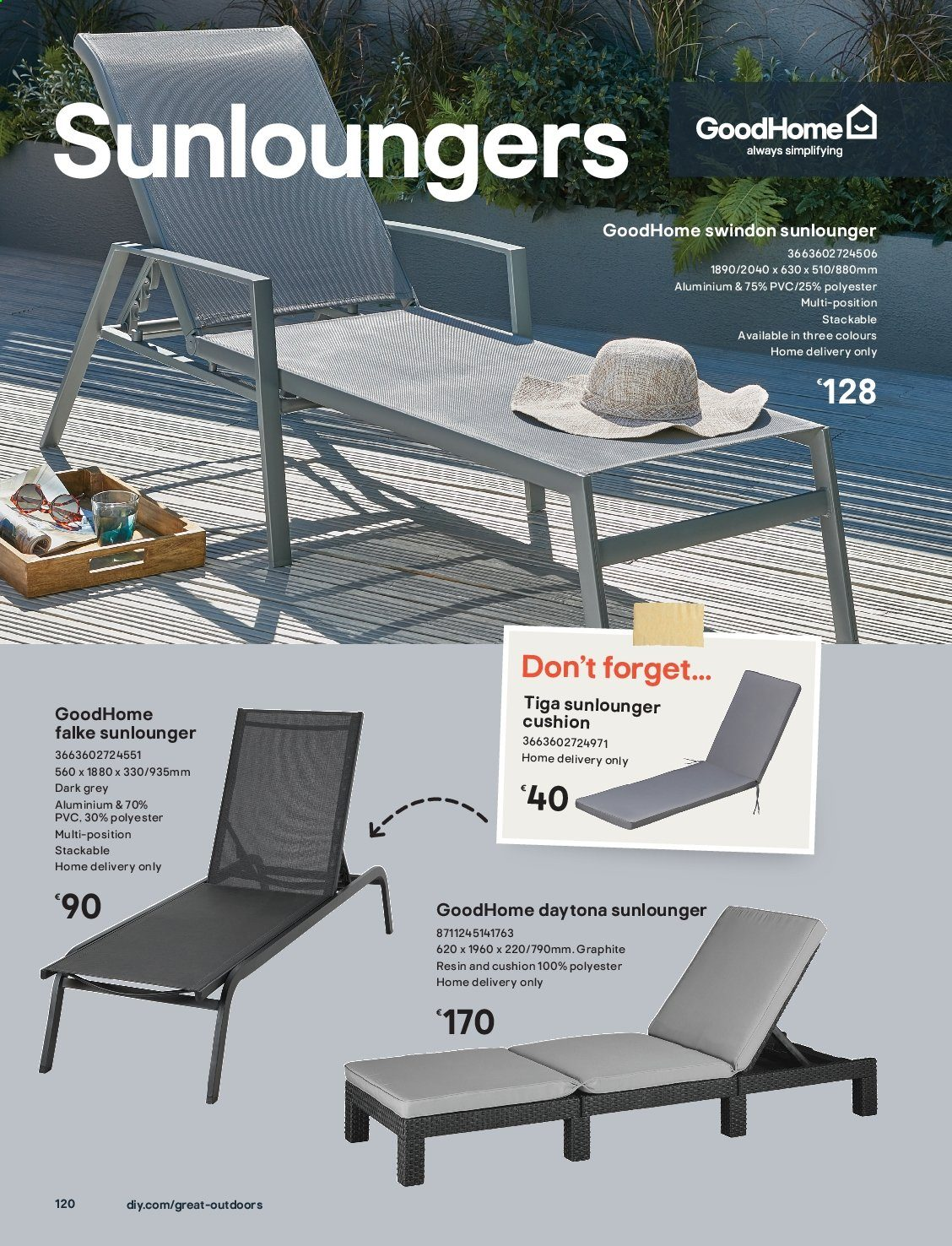 B&Q offer  - Sales products - cushion. Page 120.