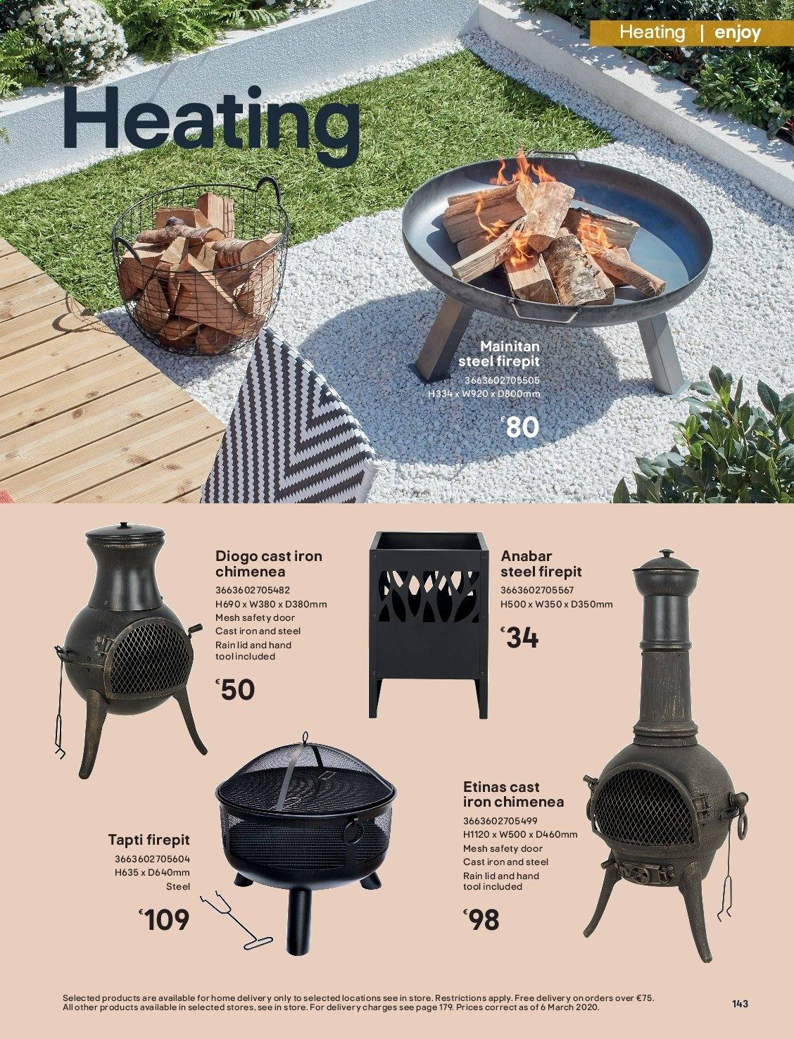 B&Q offer  - Sales products - door, lid, iron. Page 143.