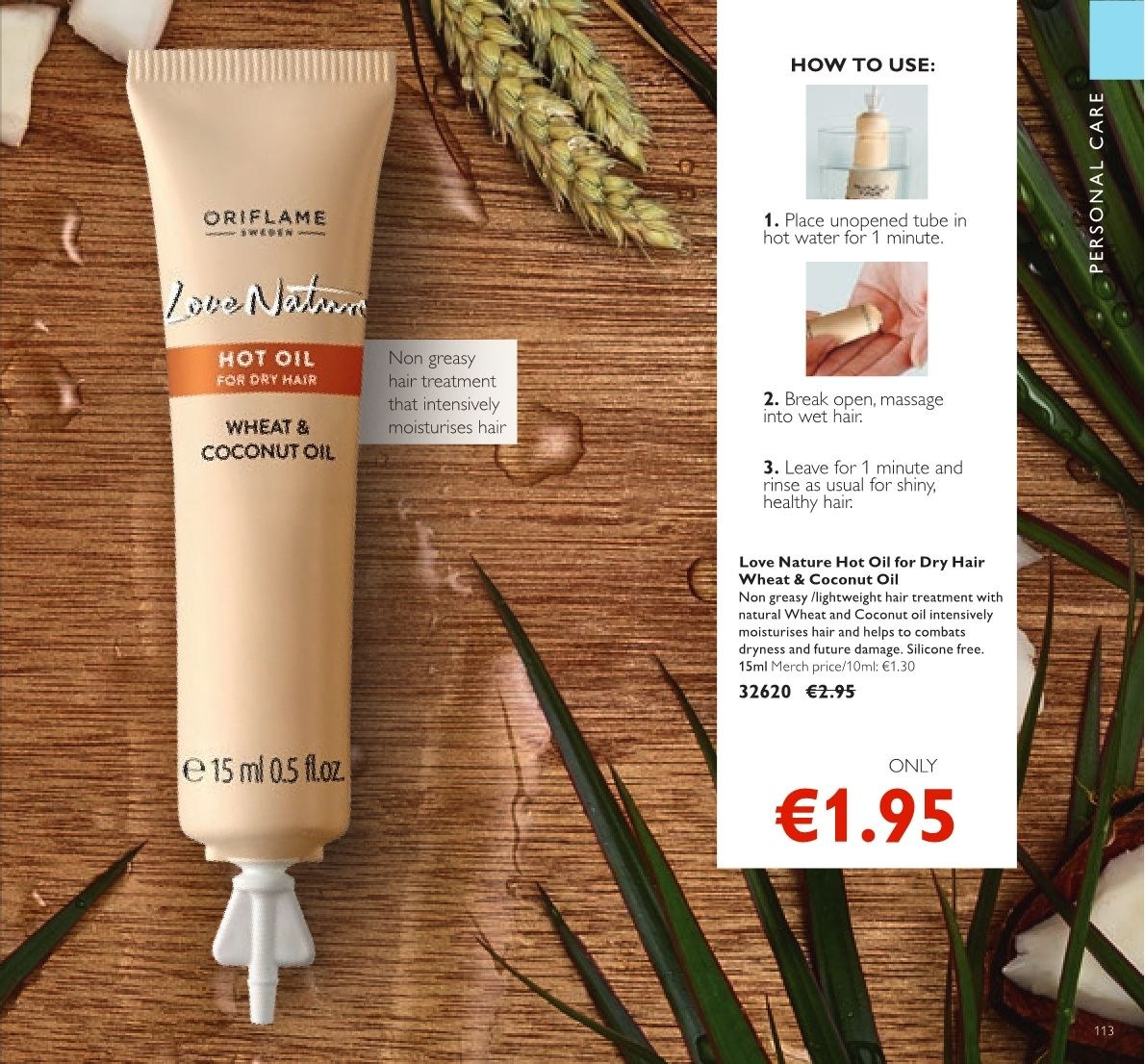 Oriflame offer  - 23.3.2018 - 12.4.2018 - Sales products - Love Nature. Page 113.
