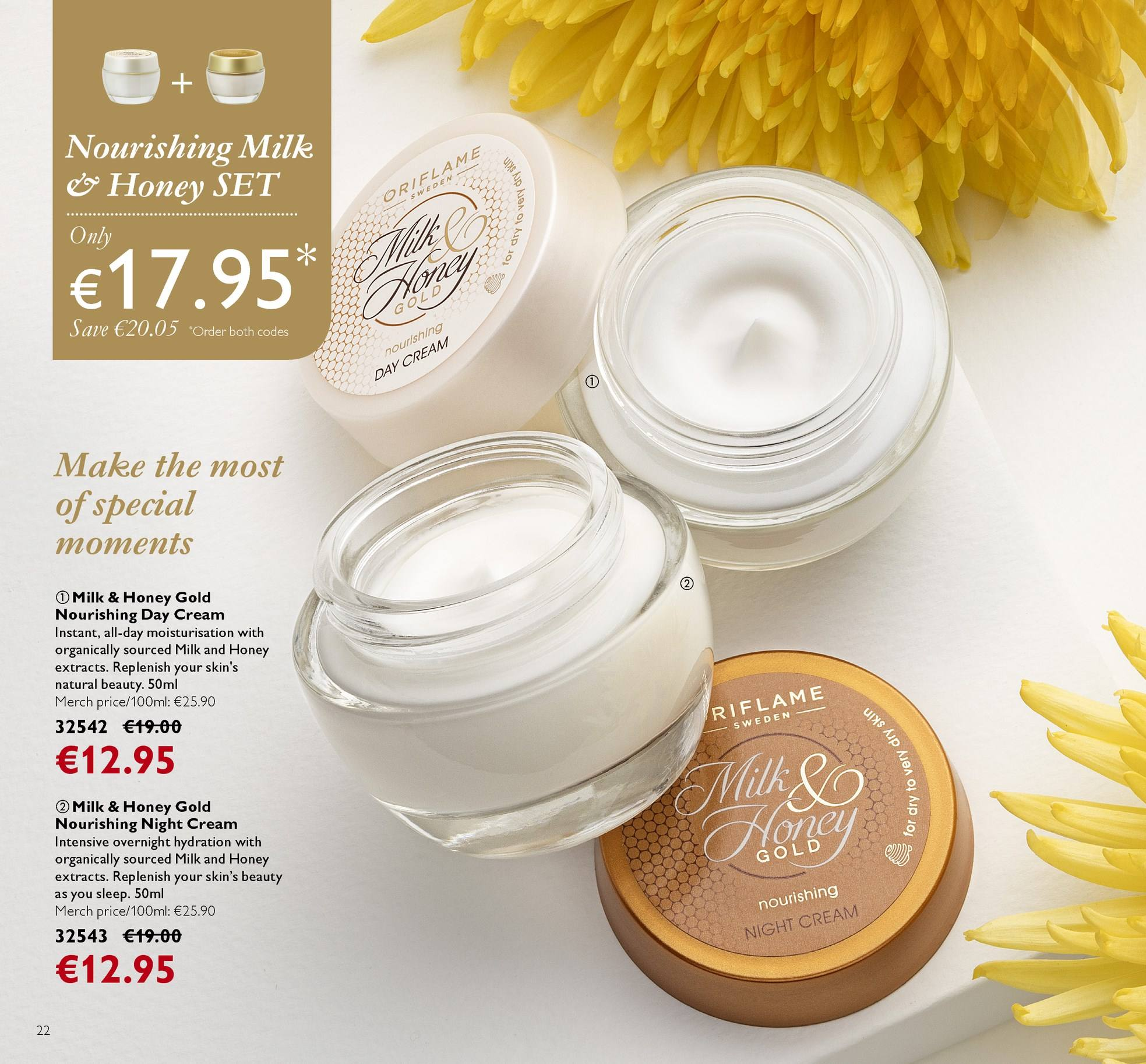 Oriflame offer  - 13.4.2018 - 3.5.2018 - Sales products - day cream, night cream. Page 22.