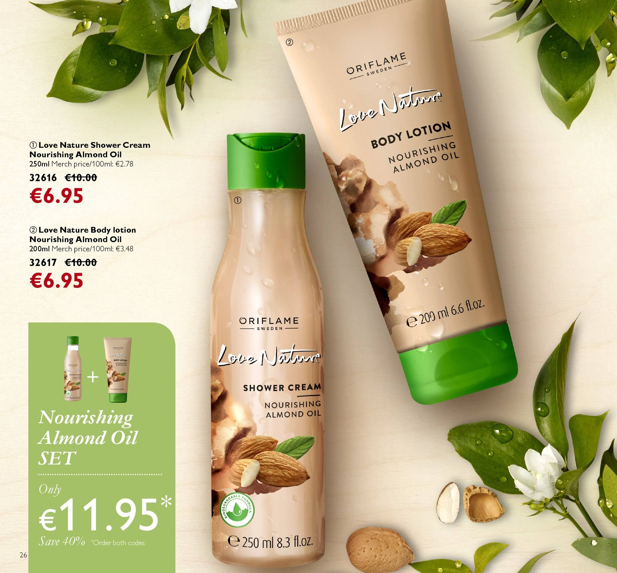 Oriflame offer  - 13.4.2018 - 3.5.2018 - Sales products - Love Nature, body lotion. Page 26.