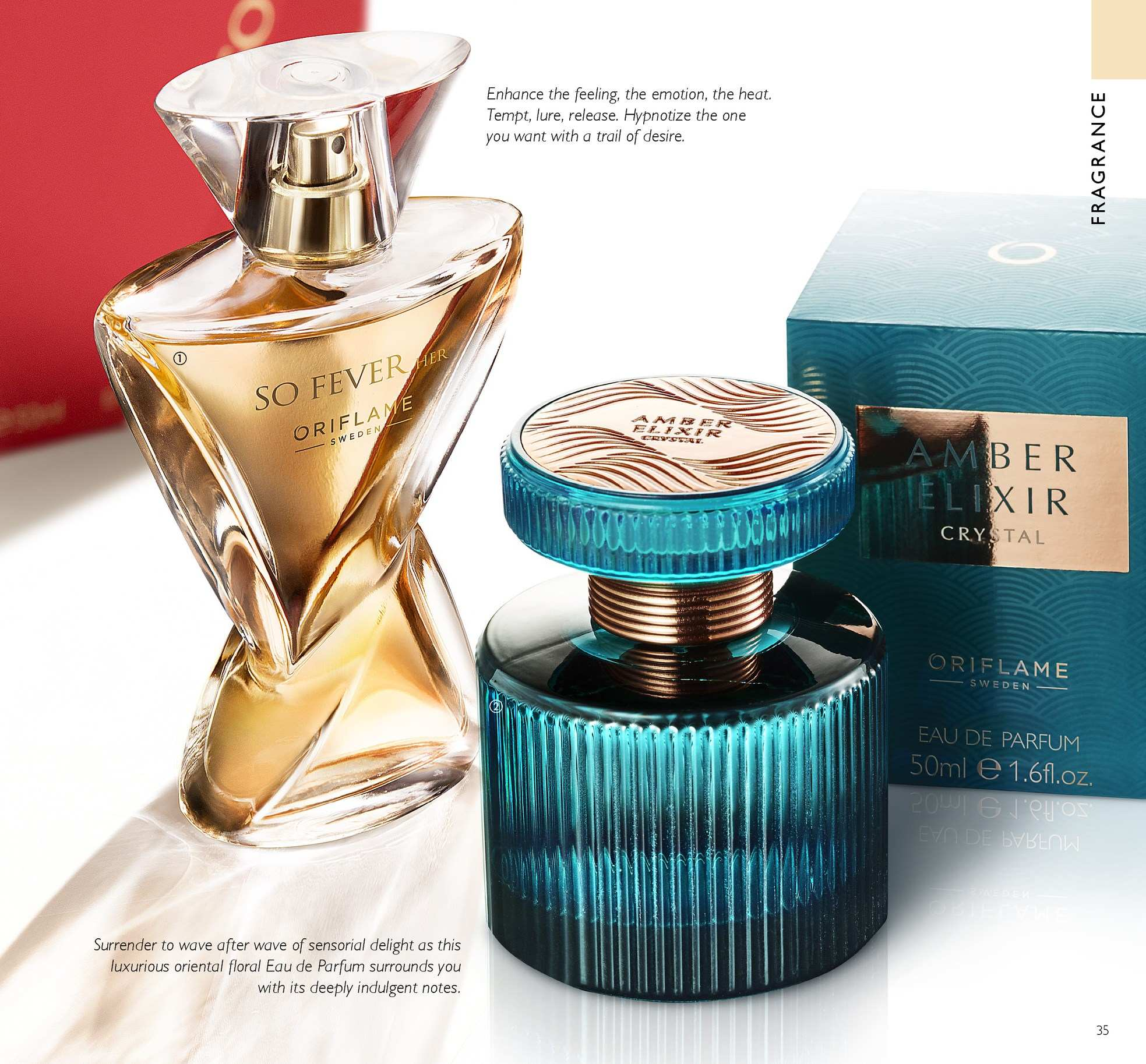 Oriflame offer  - 13.4.2018 - 3.5.2018 - Sales products - eau de parfum. Page 35.