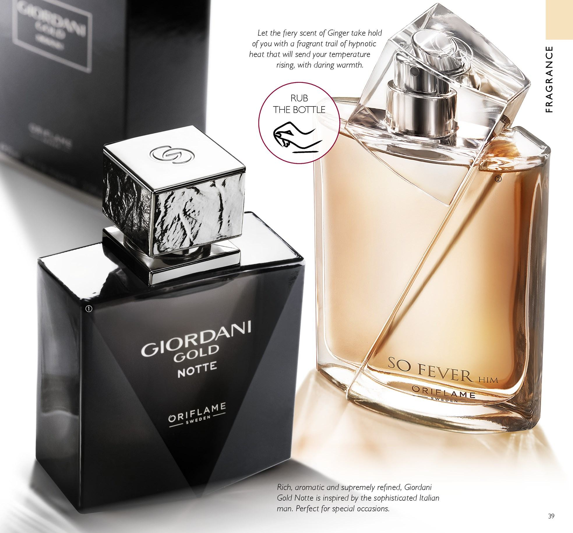 Oriflame offer  - 13.4.2018 - 3.5.2018 - Sales products - Giordani Gold. Page 39.